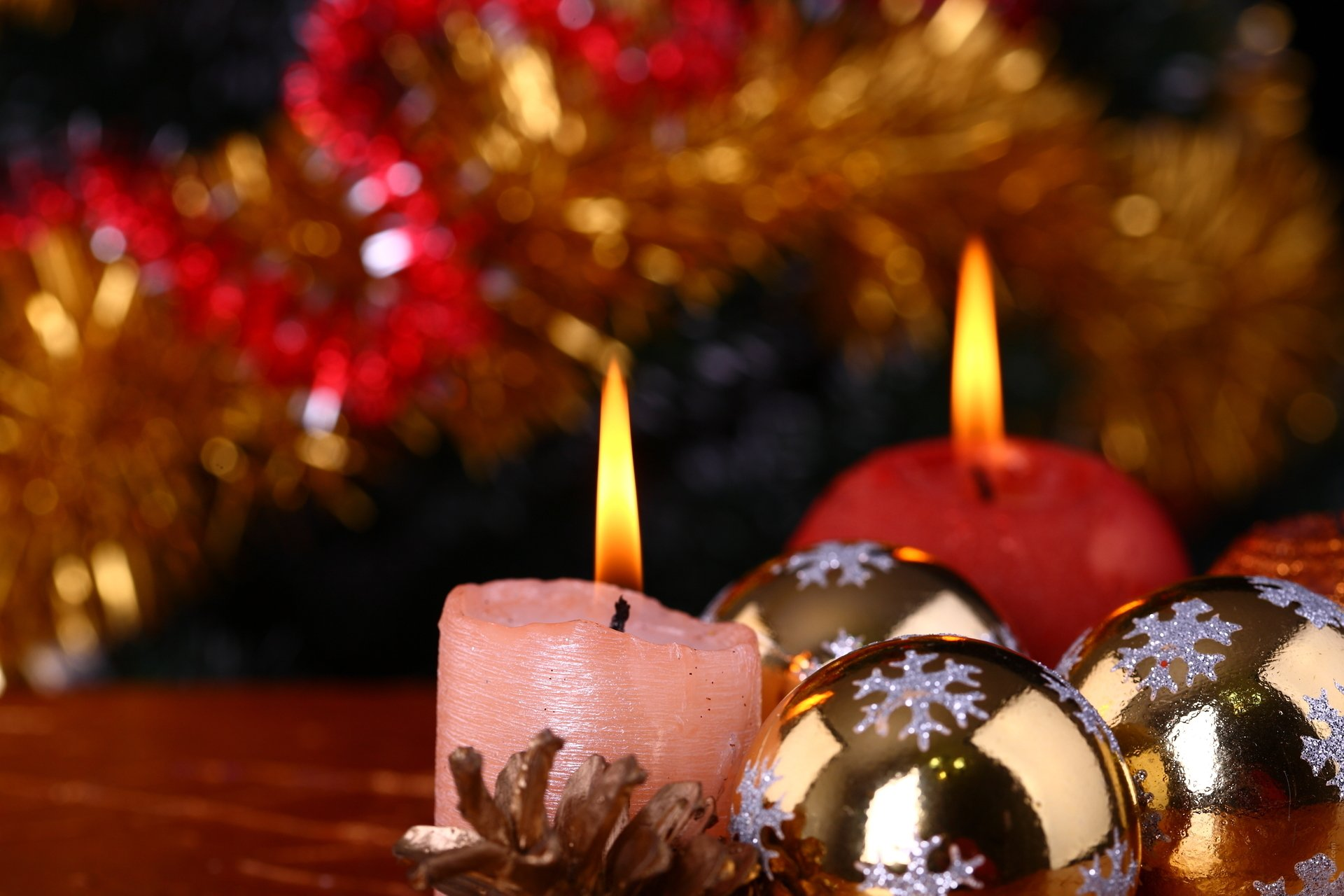 Новогодние картинки со свечкой