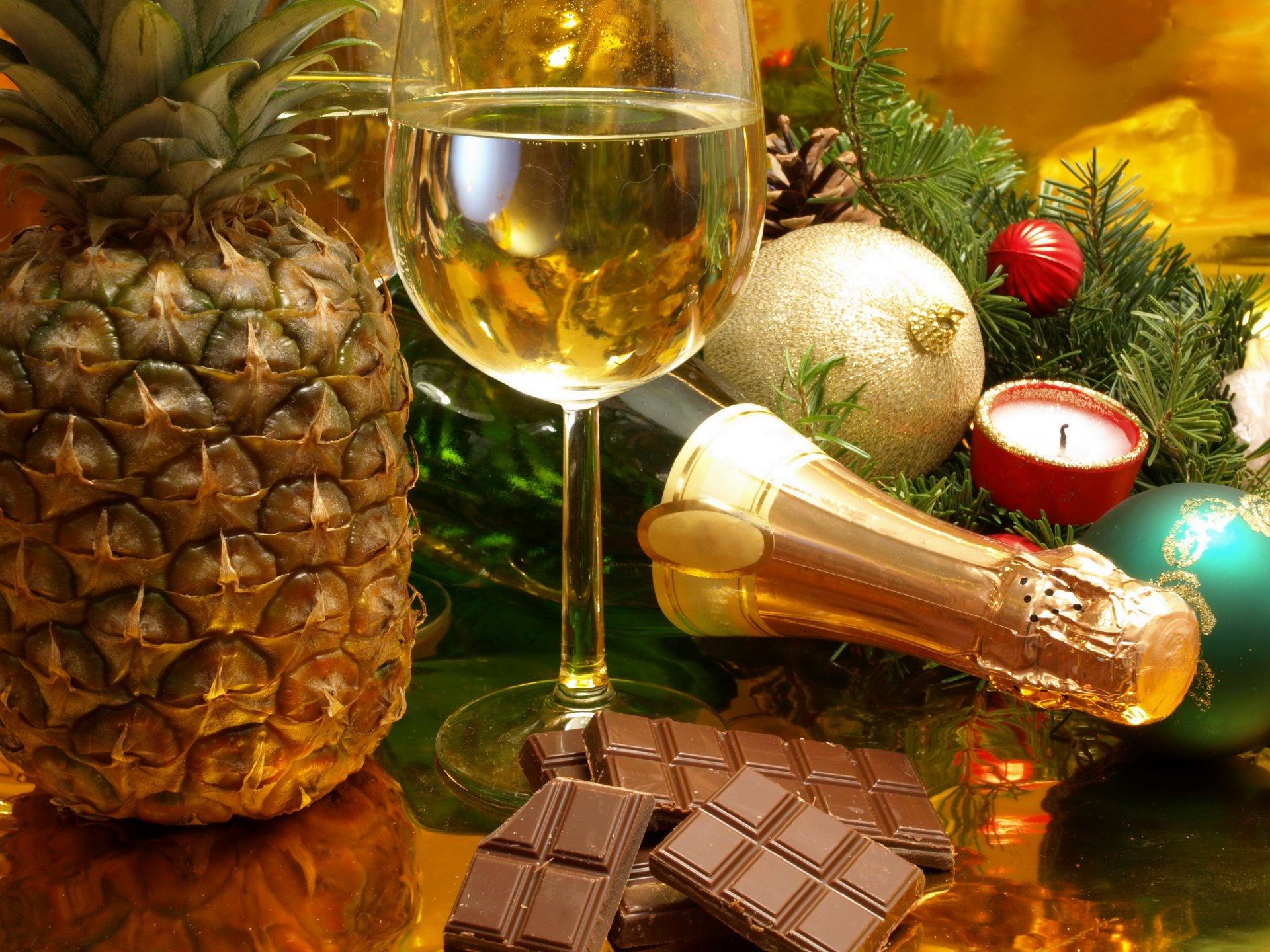 Открытки с новым годом с шампанским