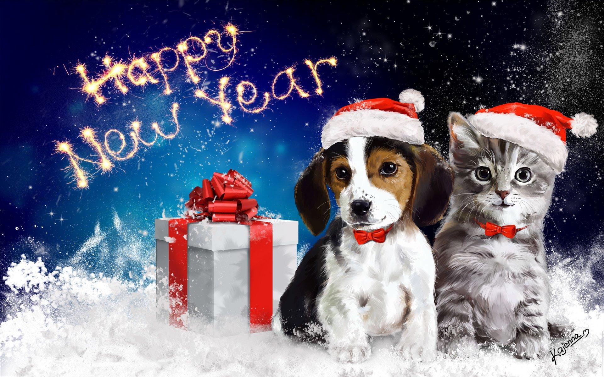 Смешная картинка, новогодняя открытка крутая