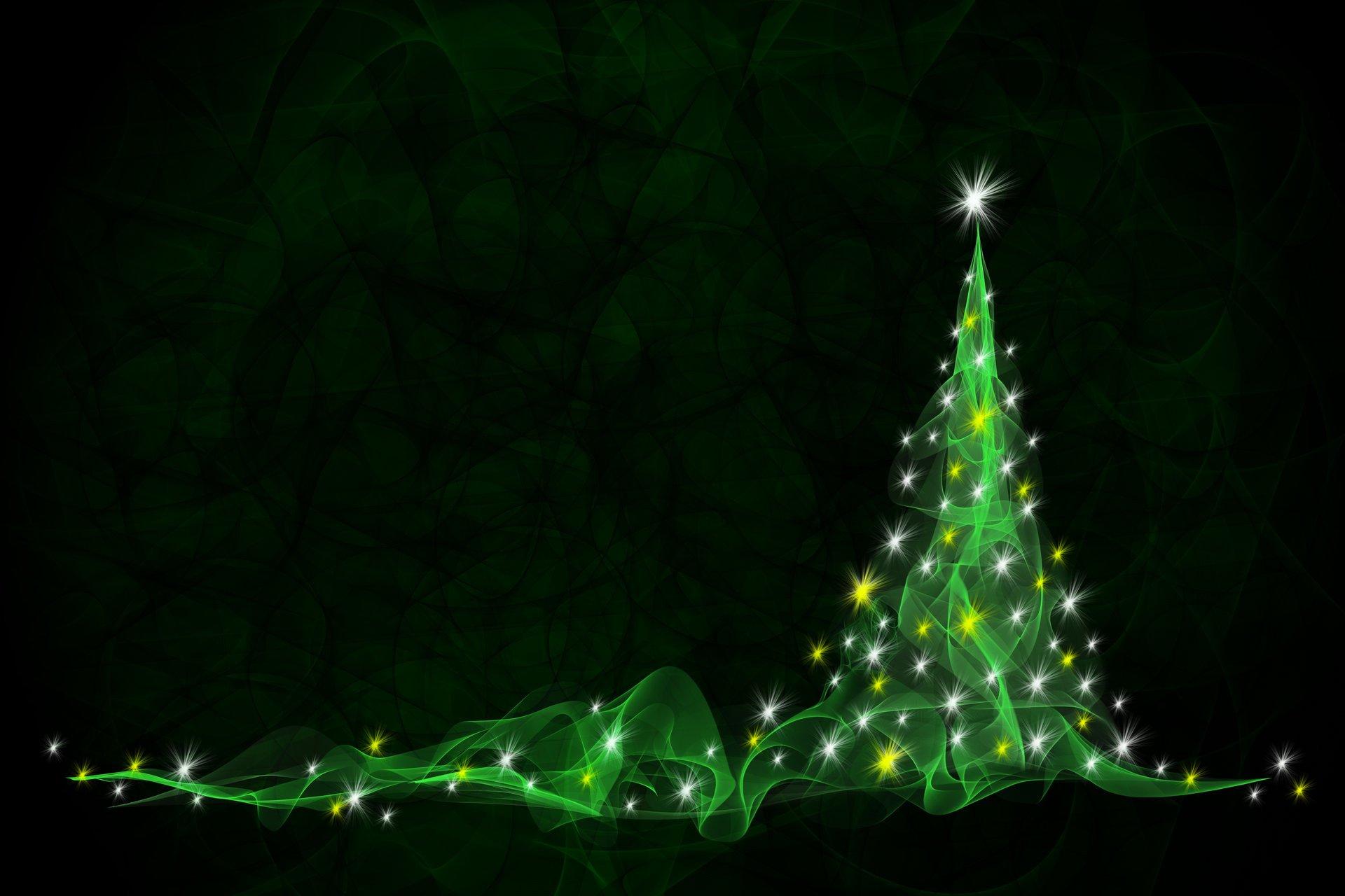Зелёный фон для нового года
