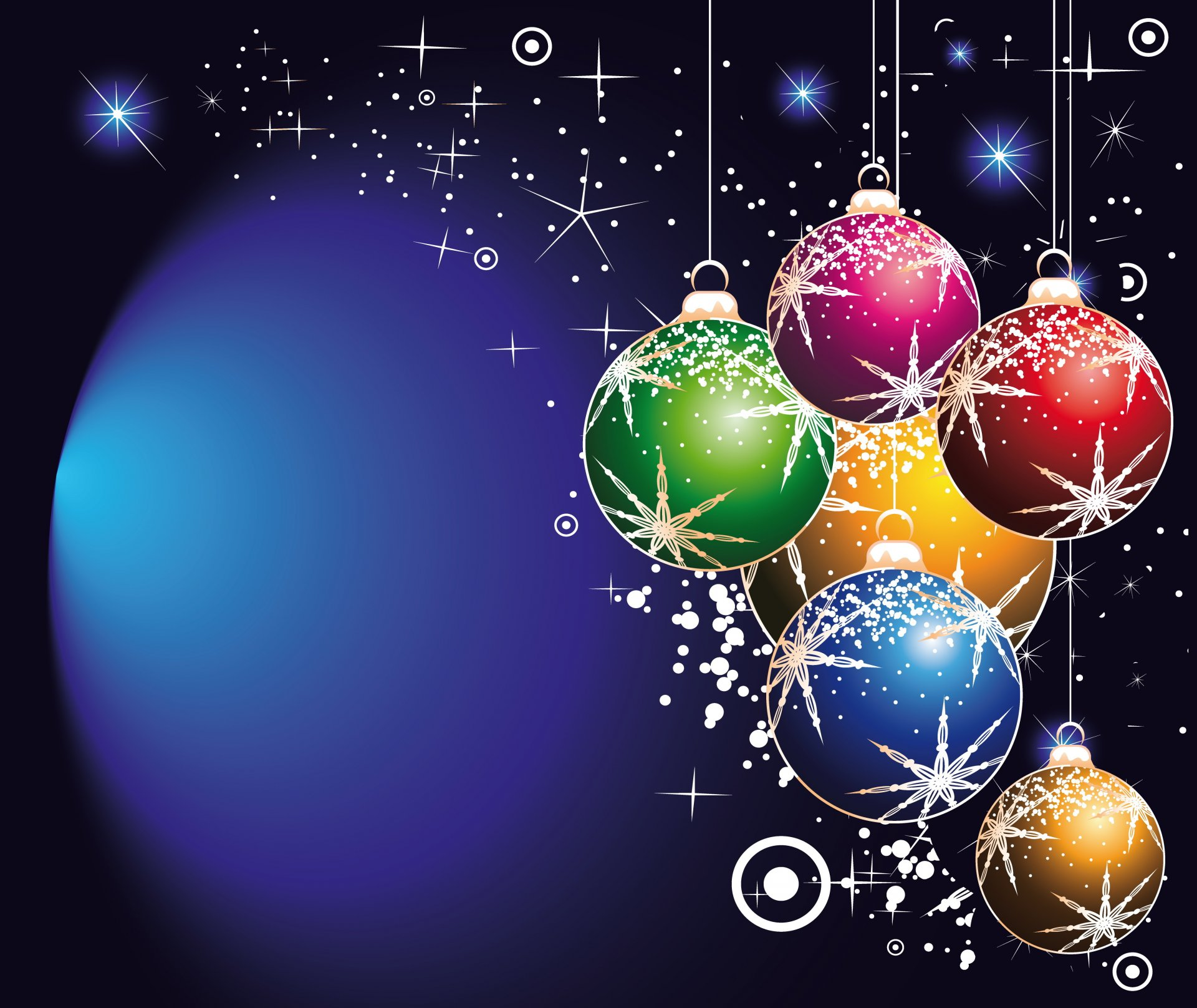 Цветов открыткой, открытки елка шары