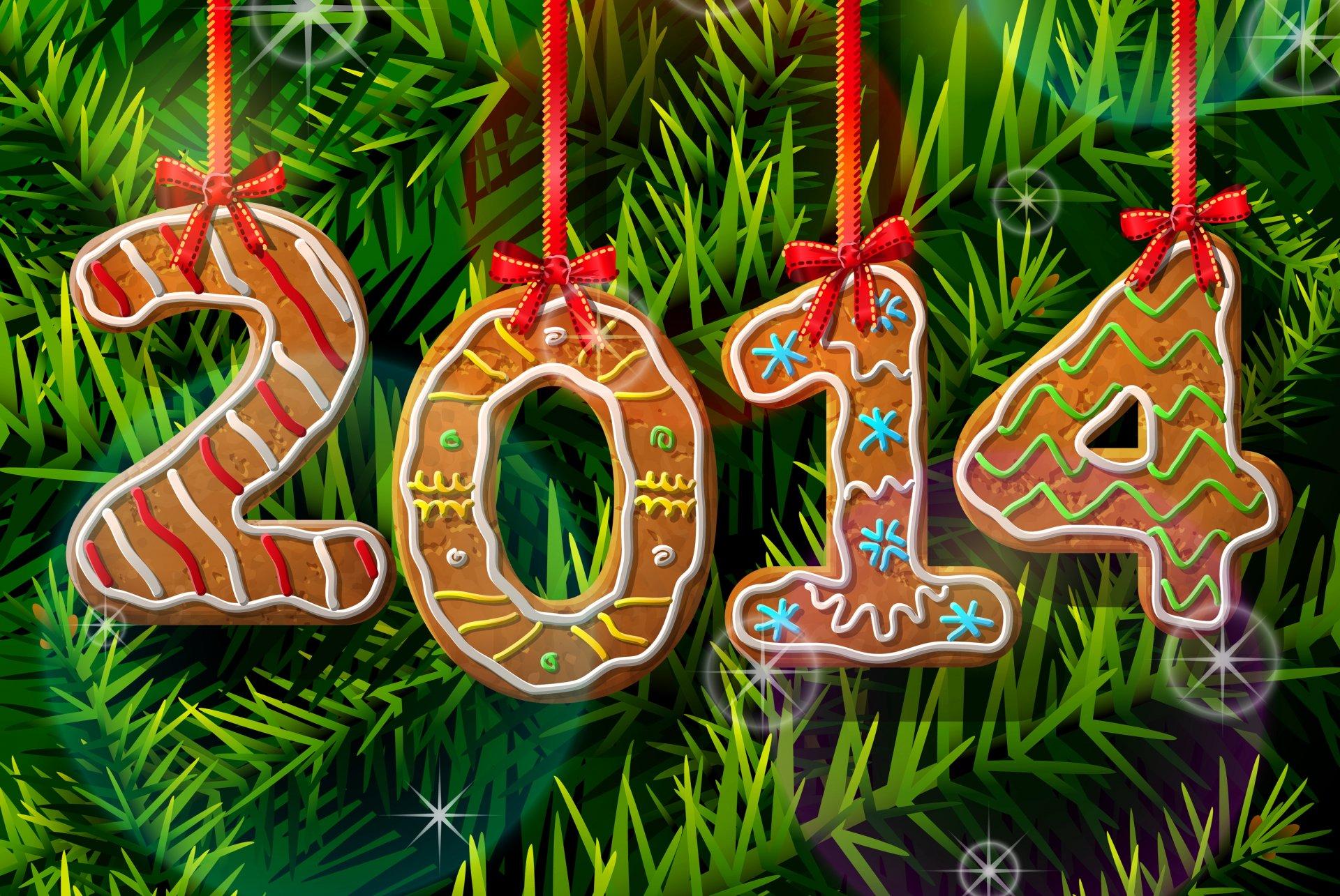 Картинка с надписью на новый год