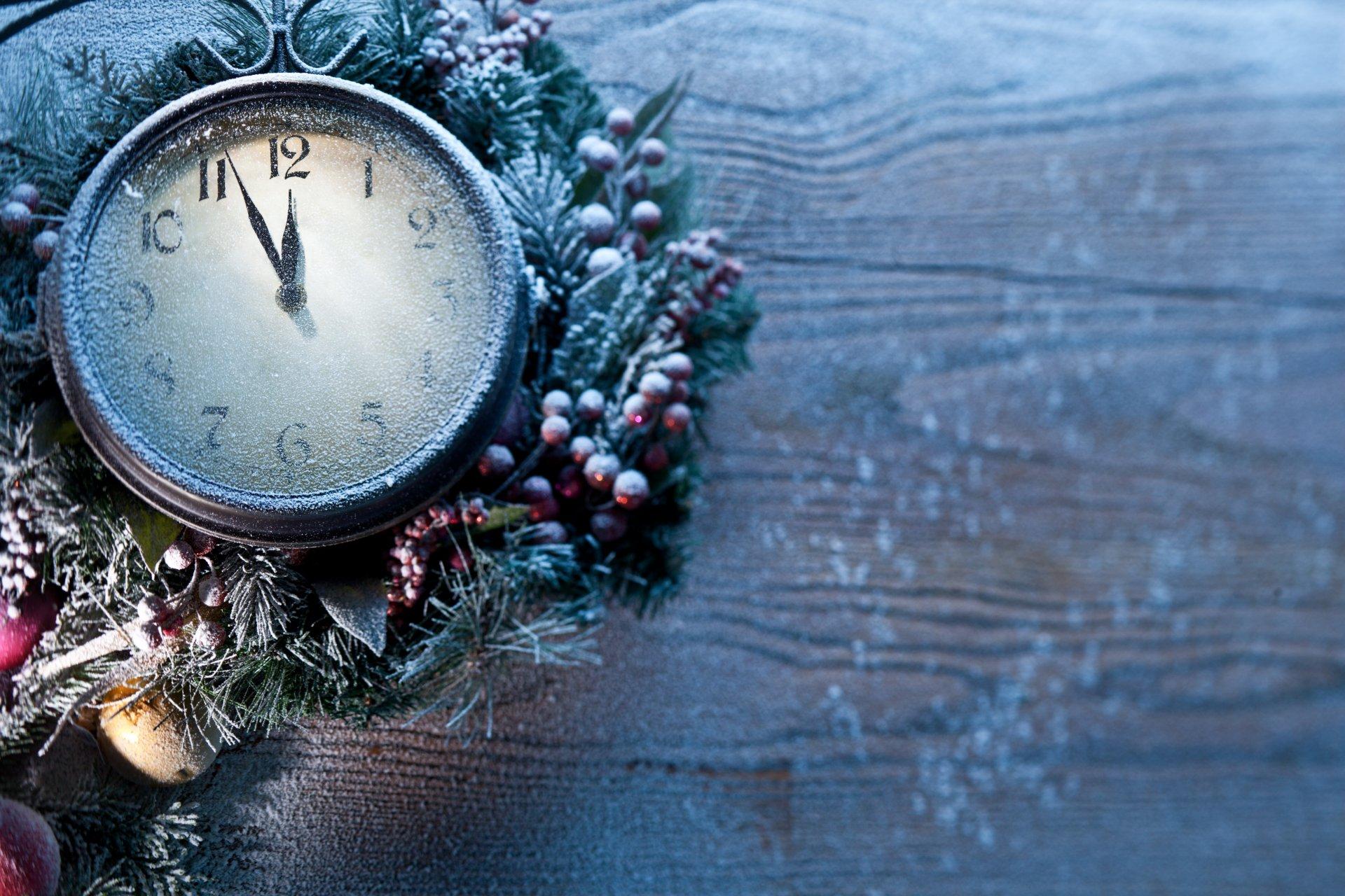 Картинки с новогодними часами новом году