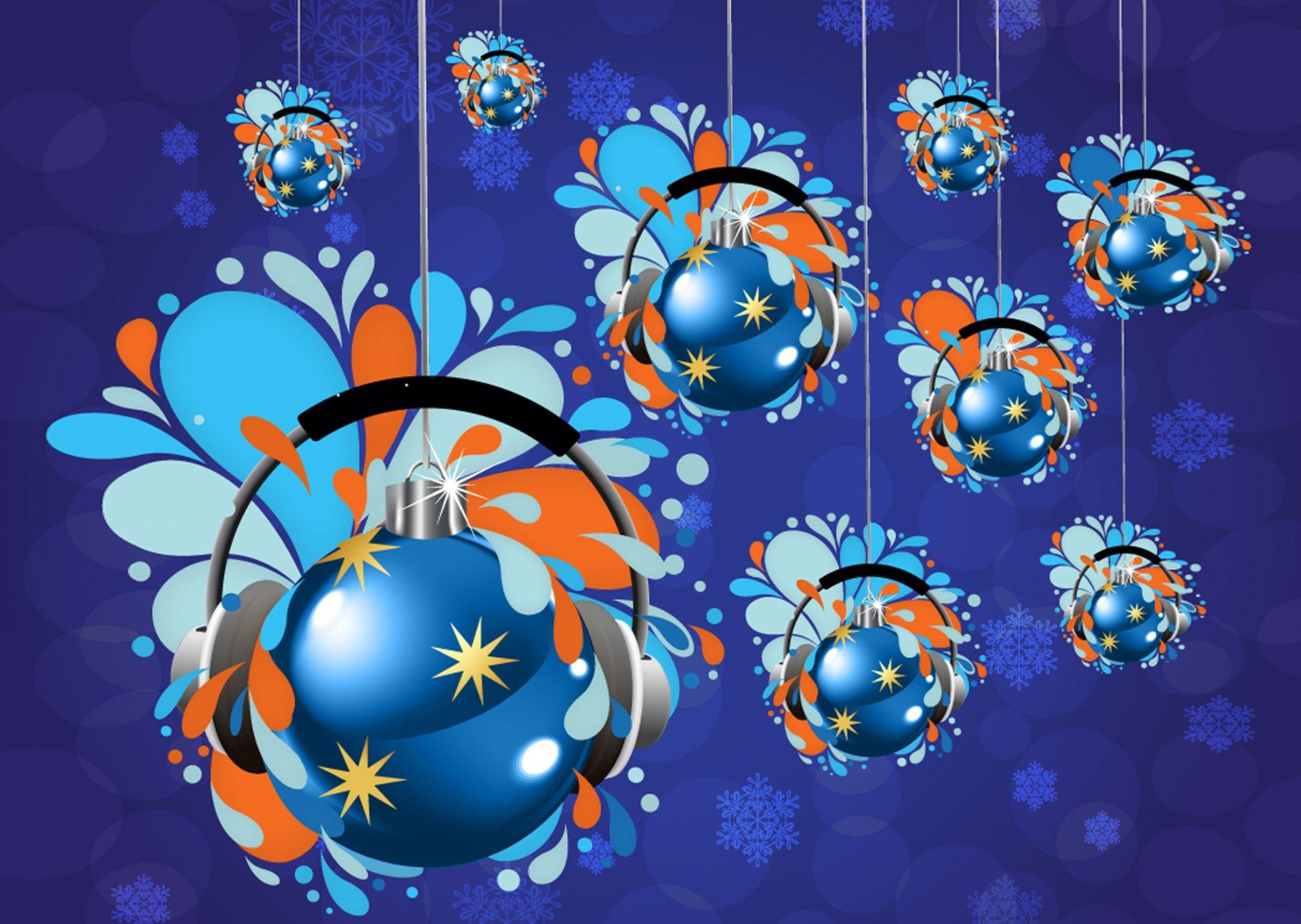 открытки новогодние шары на 2019 год