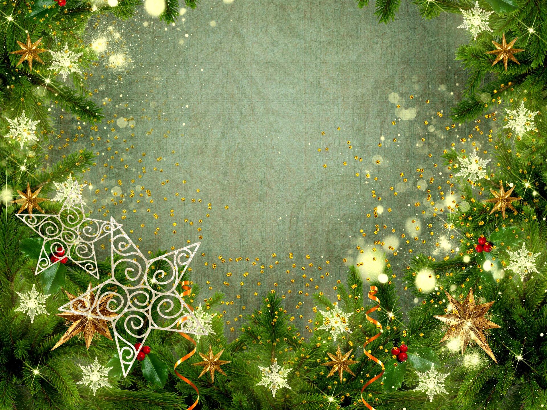 Открытка новым годом фотошоп