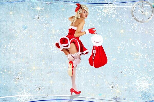 Новый год секси снегурочка