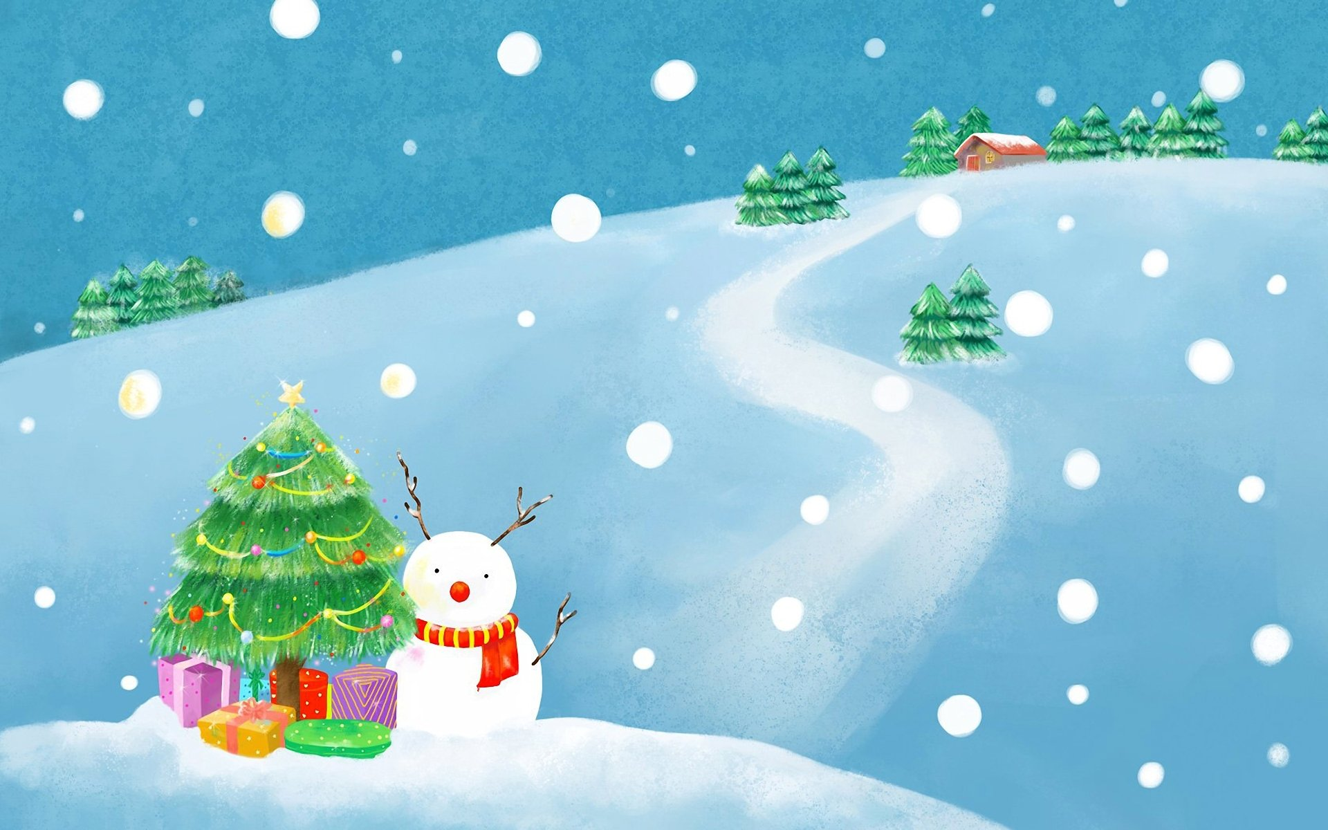 Рисунок на зимнюю тематику для детского сада
