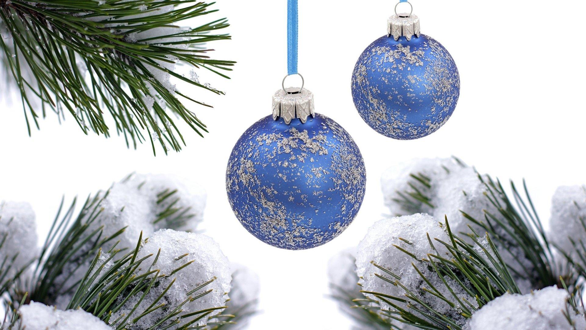 Шарики снег ель новый год Balls snow spruce new year без смс