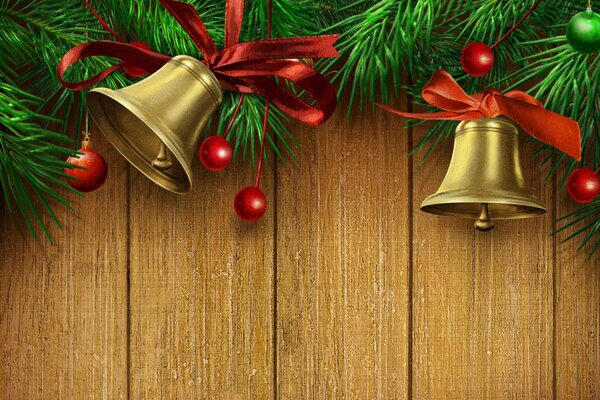 beautiful beauty bell bells Christmas Christmas bells colors cool gold golden Happy New Year holiday lovely Merry Christmas nice pretty red ribbon красивая красота колокола колокольчики новогодние рож