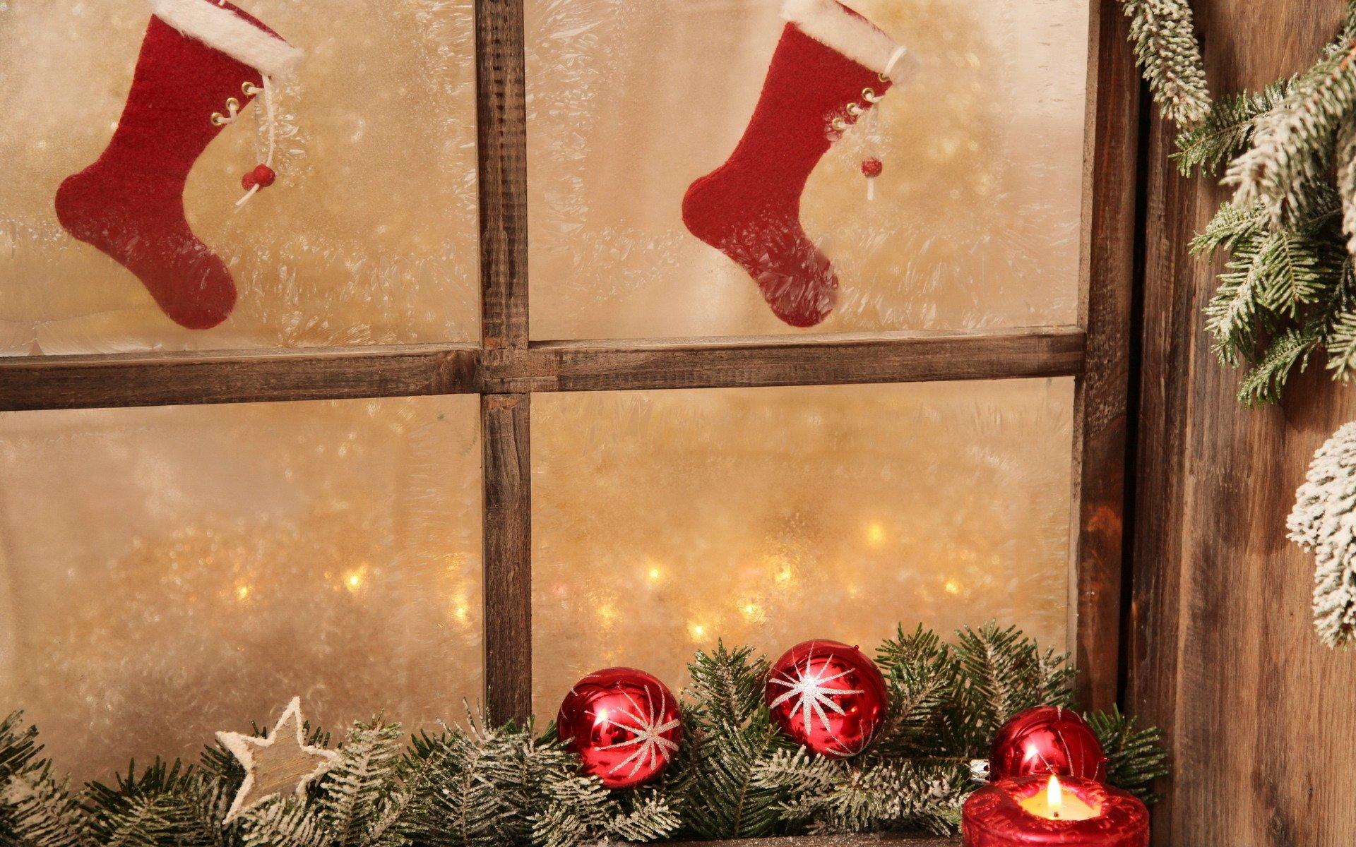 Картинка новогоднее окно, открытка