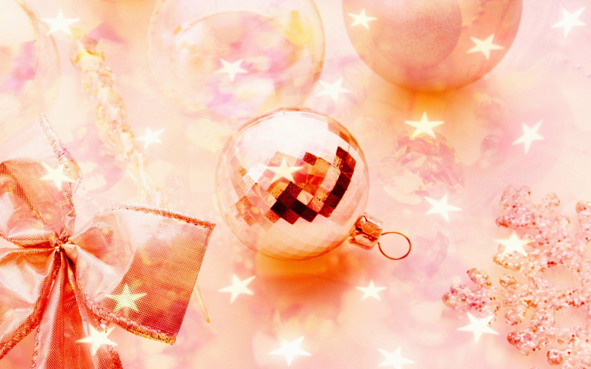 Розовые открытки с новым годом