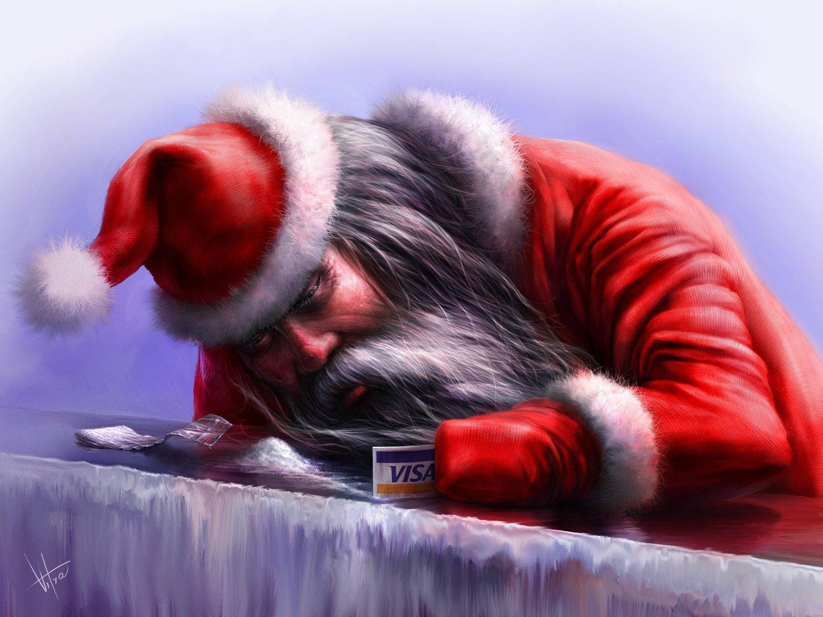 Дед мороз картинки смешное