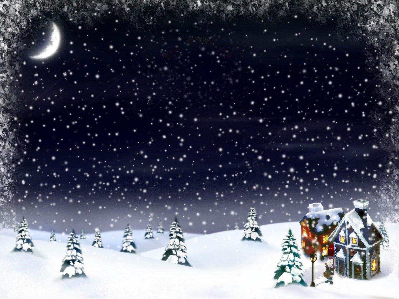 Открытка снег идет, надписью