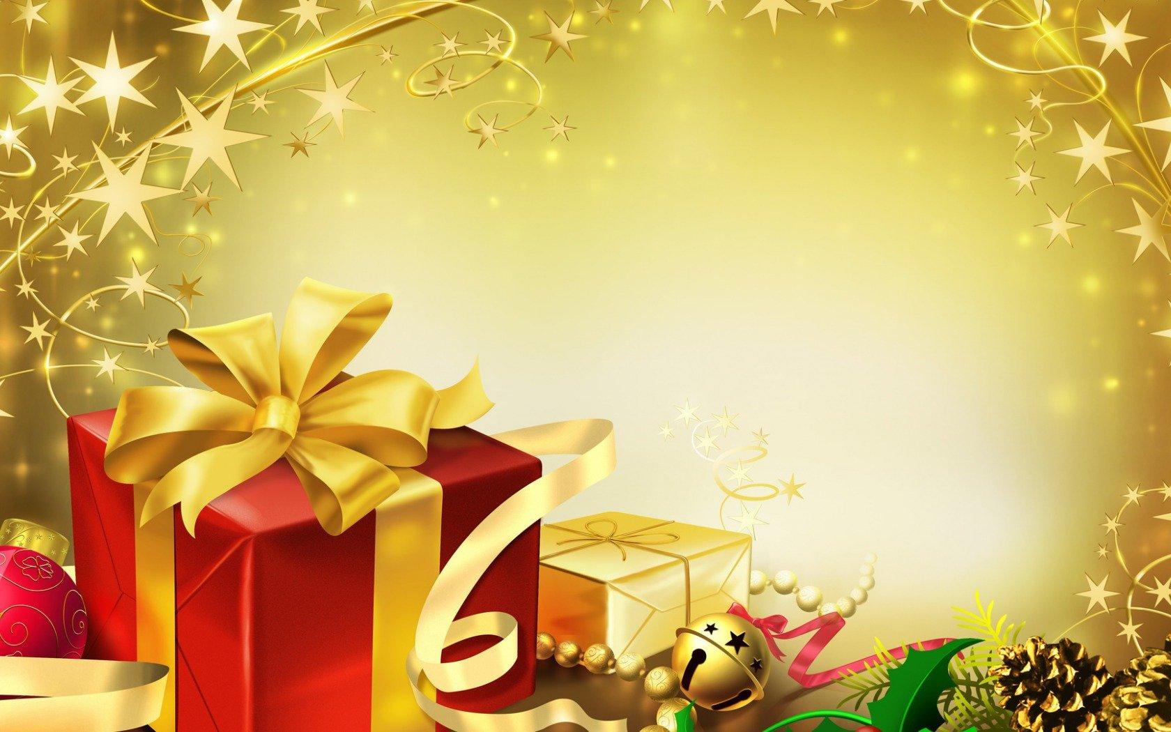 Поздравительная открытка с днем рождения и новым годом