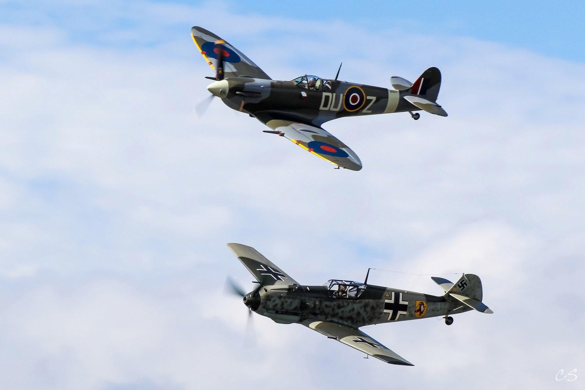 Обои bf-109f-2/u2, воздушный, самолеты. Авиация foto 8