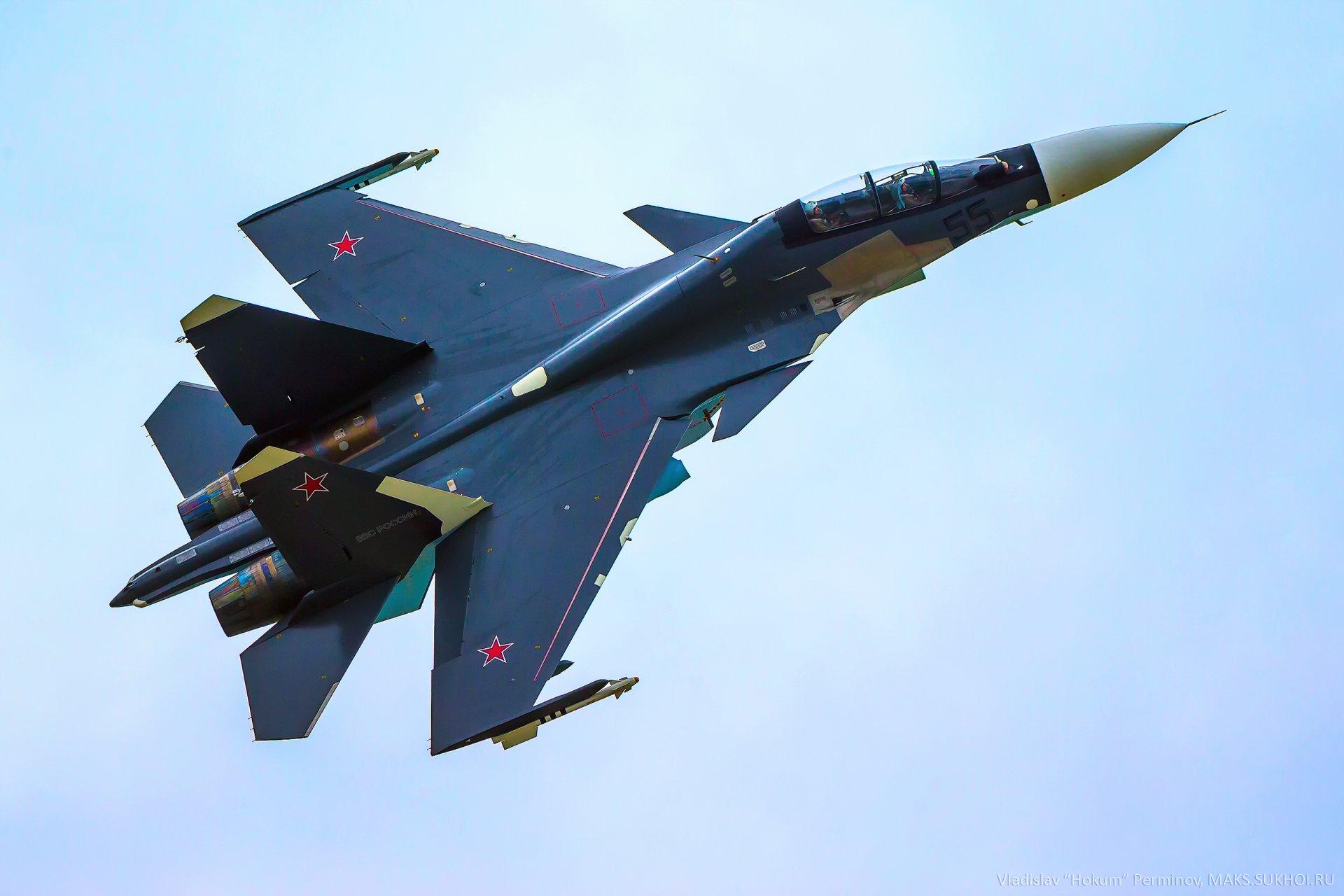 Обои Sukhoi, Su-30sm, истребитель, многоцелевой. Авиация foto 14