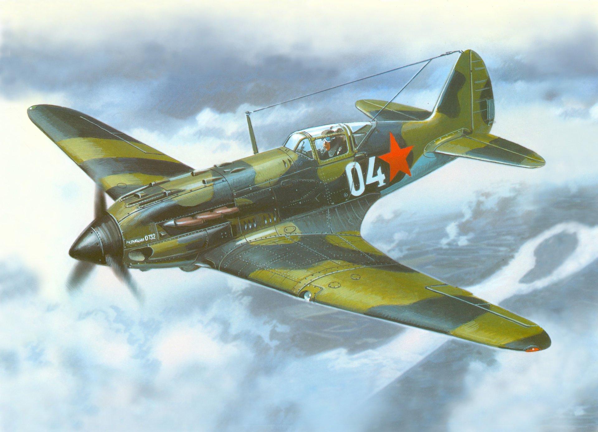 Обои истребитель, Миг-3, Облака, Самолёт. Авиация foto 16