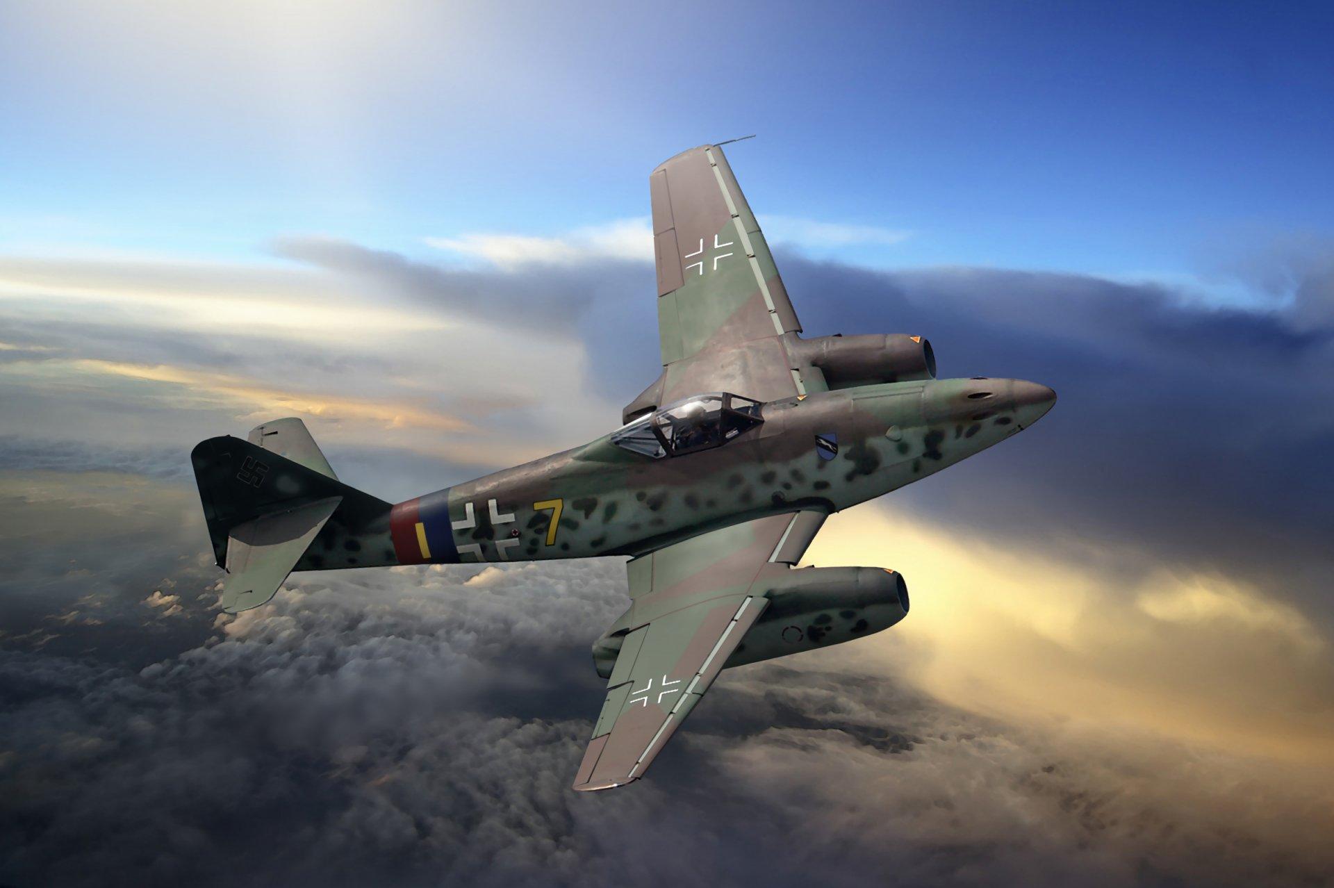 Обои реактивный, me.262, истребитель, бомбардировщик. Авиация foto 9