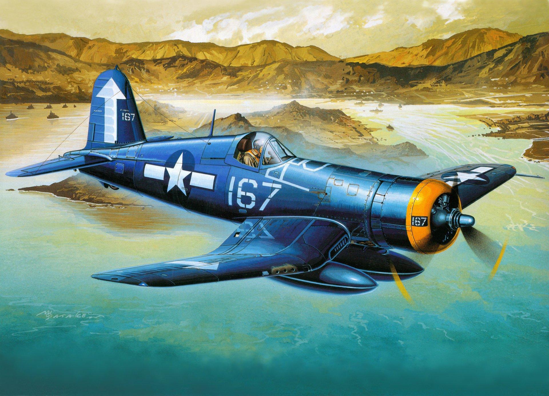 Обои Вторая мировая, F4u corsair, chance vought. Авиация foto 13