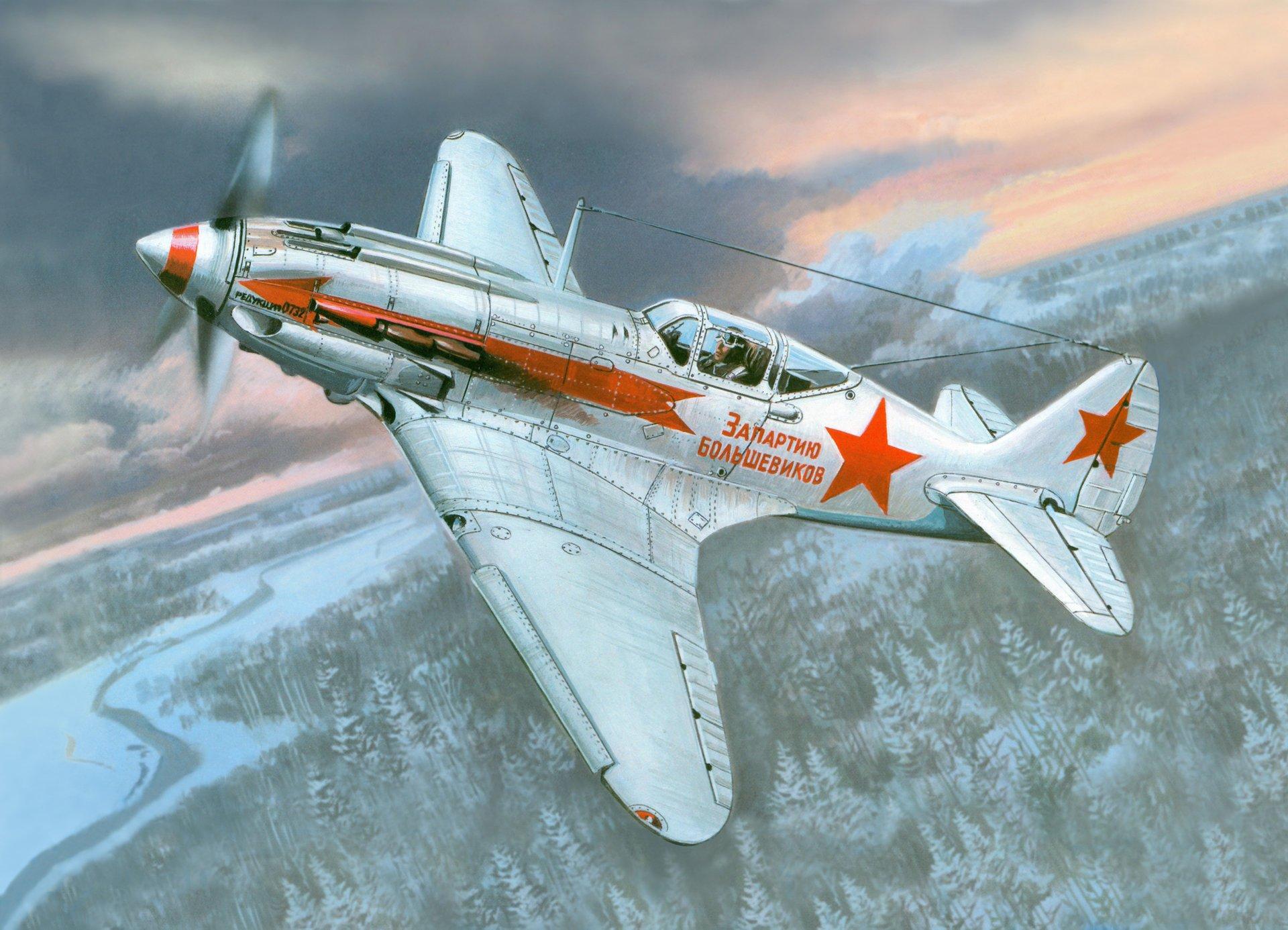 Обои истребитель, Миг-3, Облака, Самолёт. Авиация foto 13