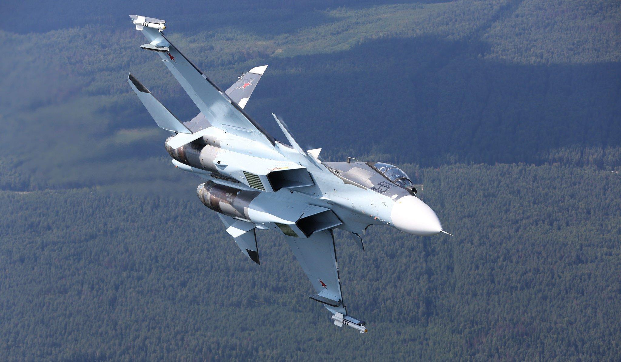 Обои Су-30см, двухместный, многоцелевой, российский. Авиация foto 16