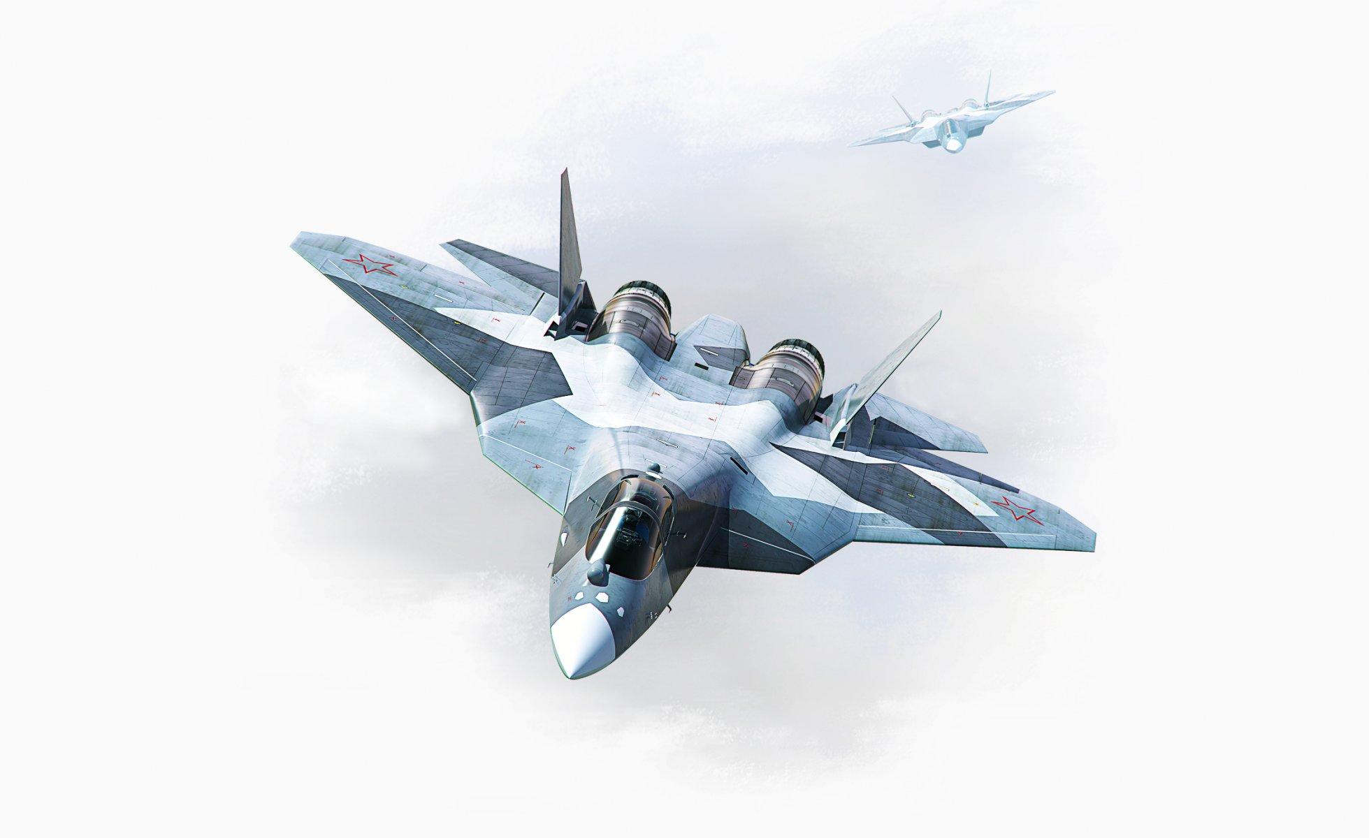 Обои Пятого поколения, многоцелевой, ПАК ФА Т-50, Самолёт, сверхзвуковой, Владислав Перминов, истребитель. Авиация foto 12