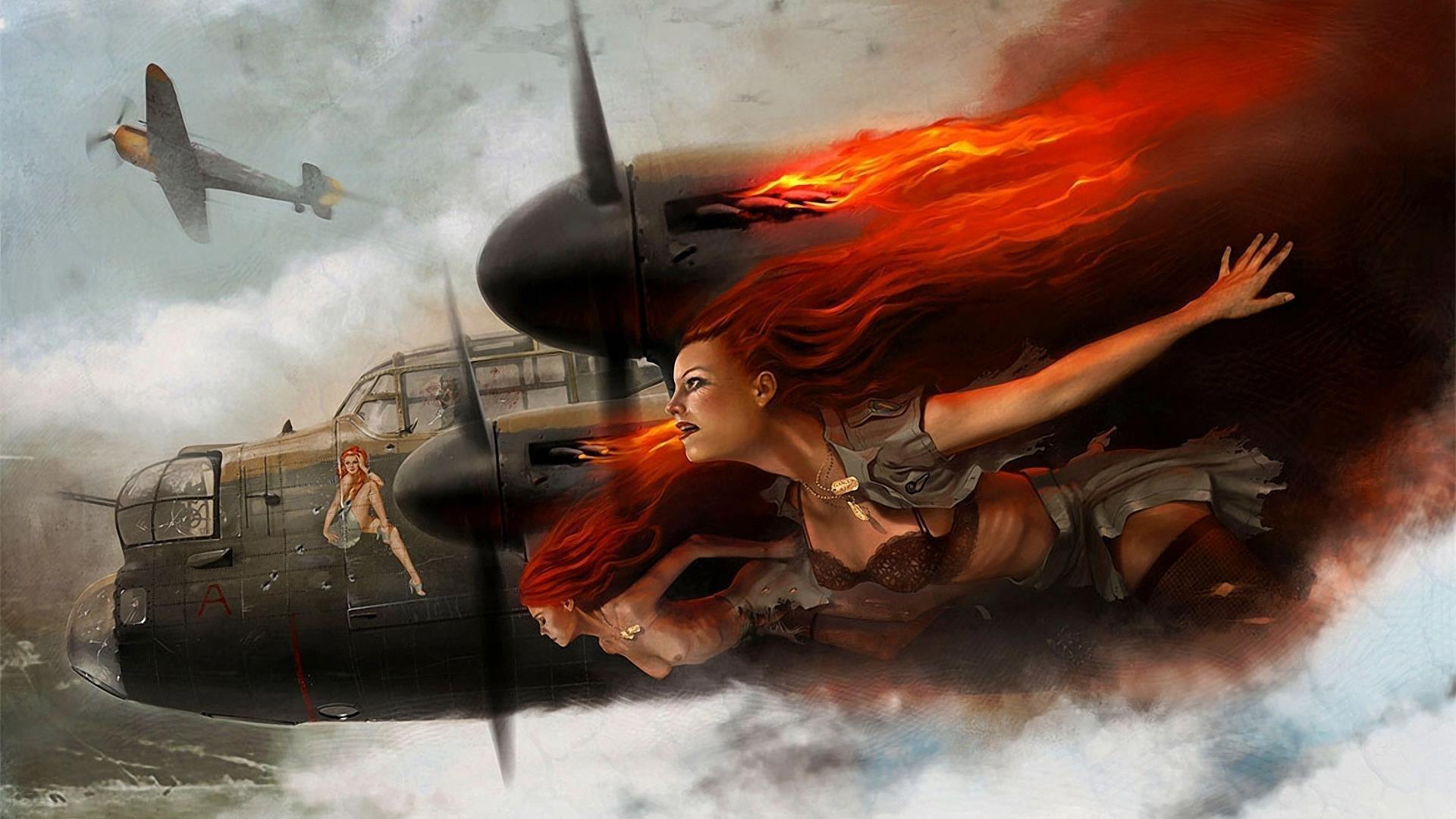 Обои avro lancaster, бомбардировщик, четырёхмоторный. Авиация foto 10