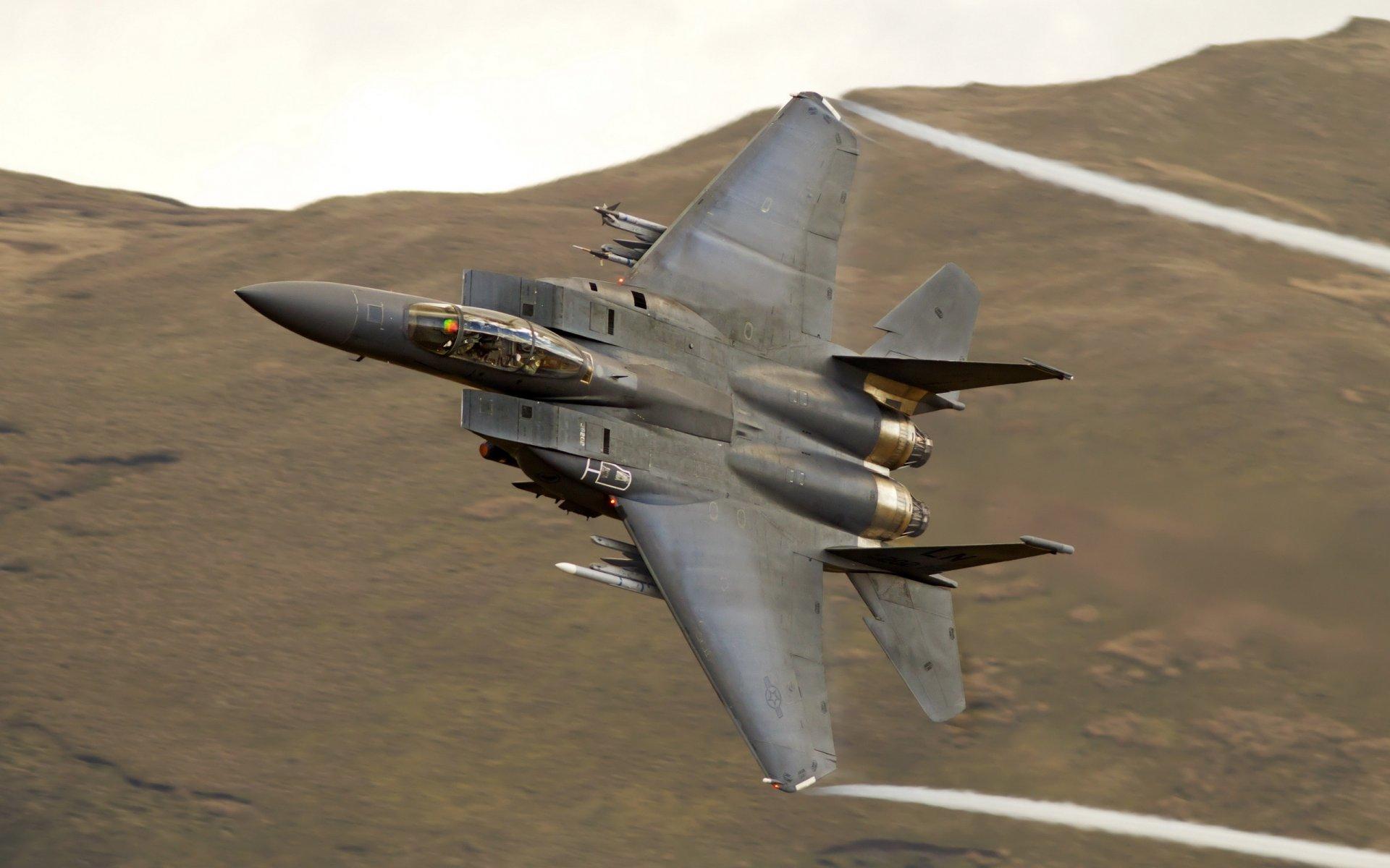 Обои вертикальный предел, F15 strike eagle, истребитель, высота. Авиация foto 8