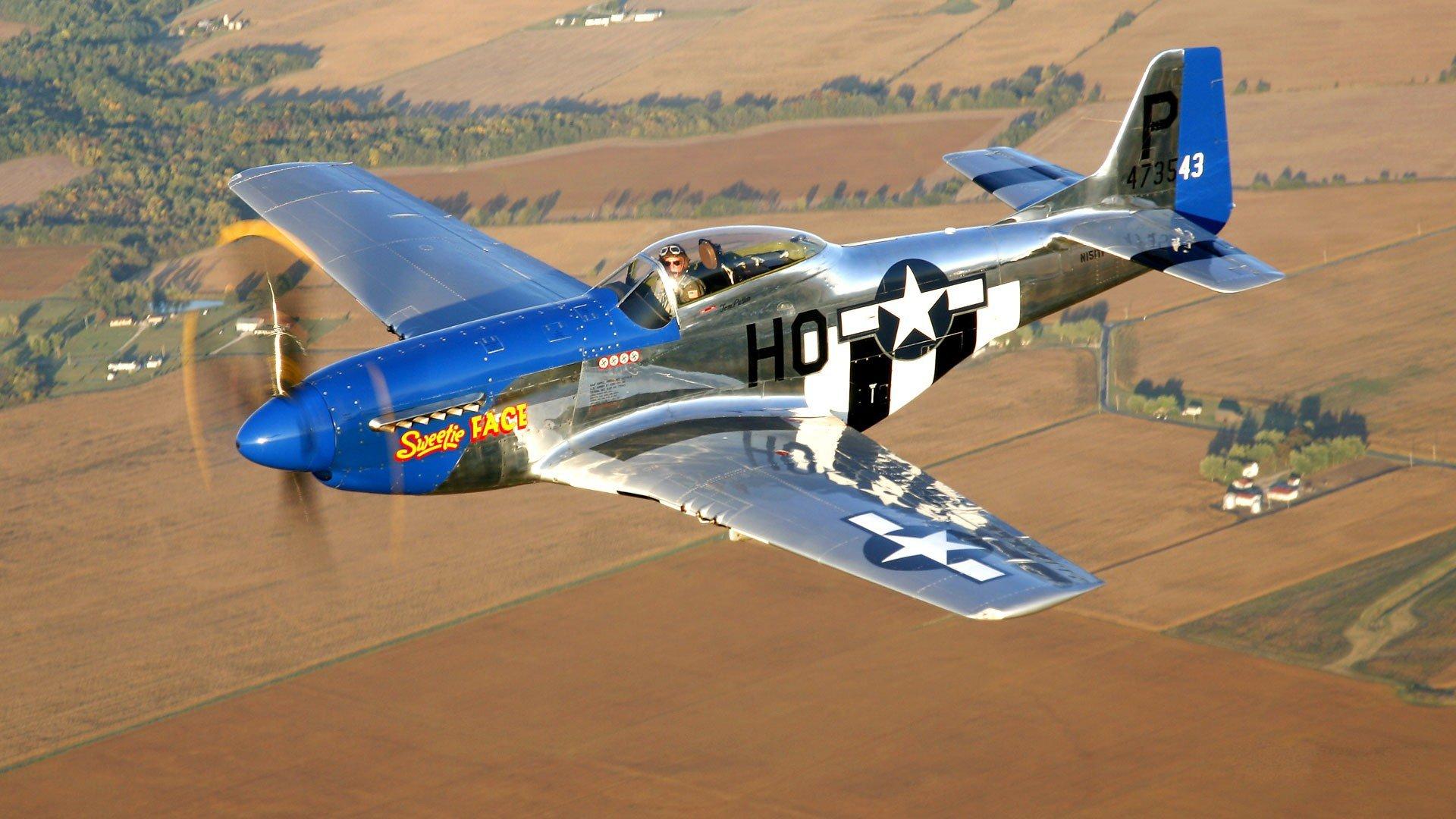 Обои дальний, одноместный, P-51c mustang, американский. Авиация foto 9