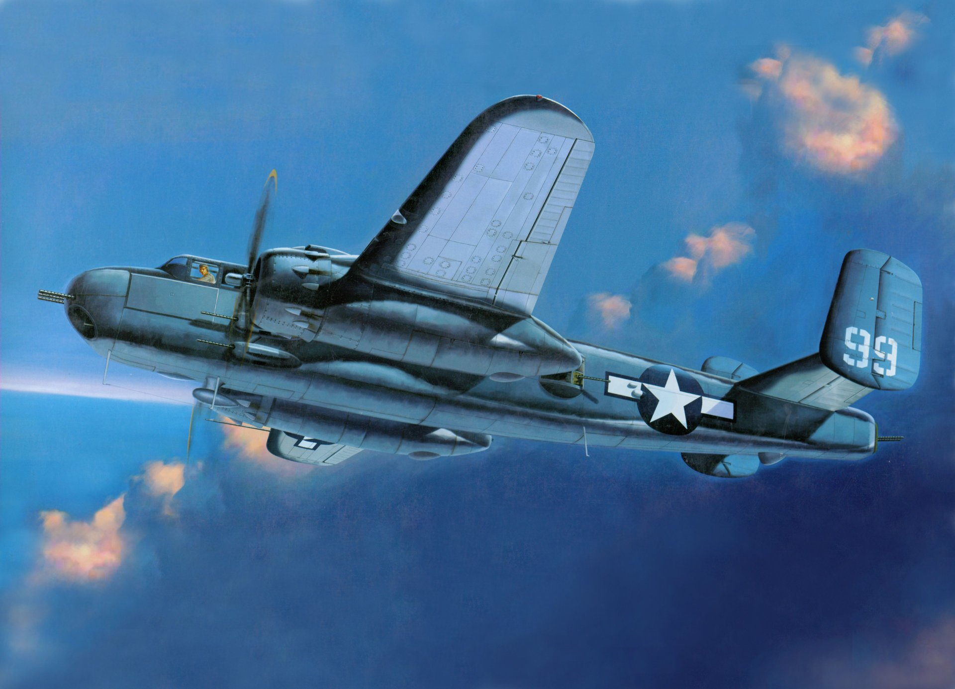 Обои b-25, North american, средний, двухмоторный, американский. Авиация foto 19