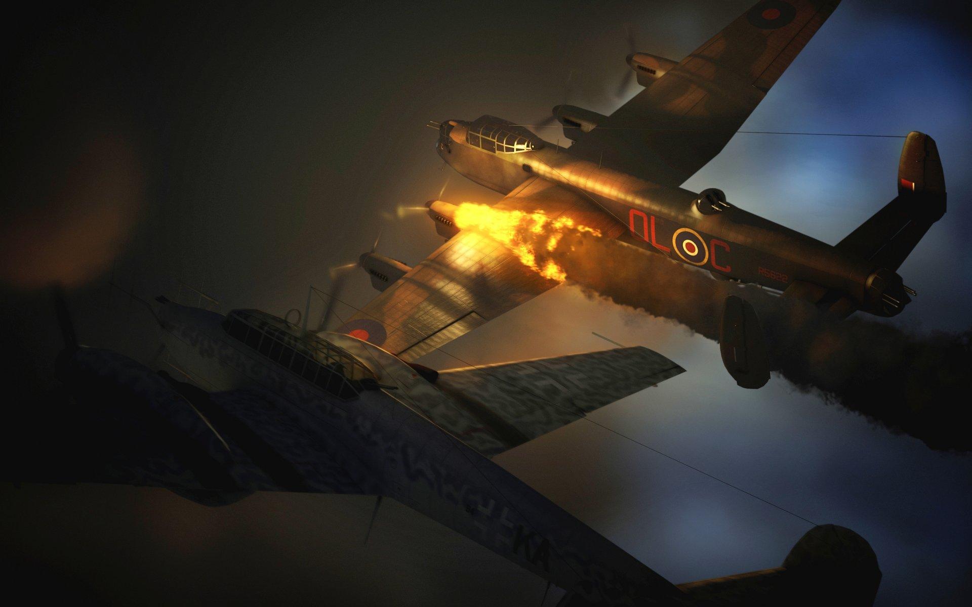 Обои avro lancaster, бомбардировщик, четырёхмоторный. Авиация foto 17