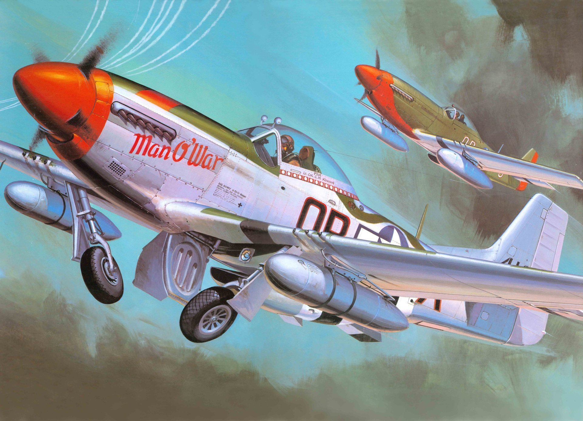 Обои дальний, одноместный, P-51c mustang, американский. Авиация foto 15
