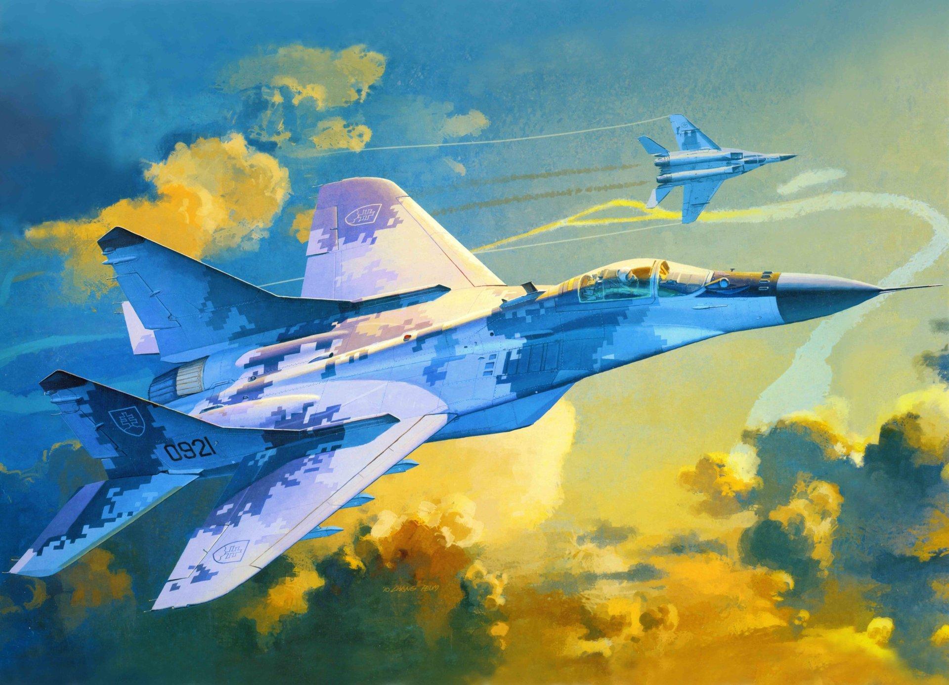 Обои Миг-29а, многоцелевой, истребитель, fulcrum. Авиация foto 11