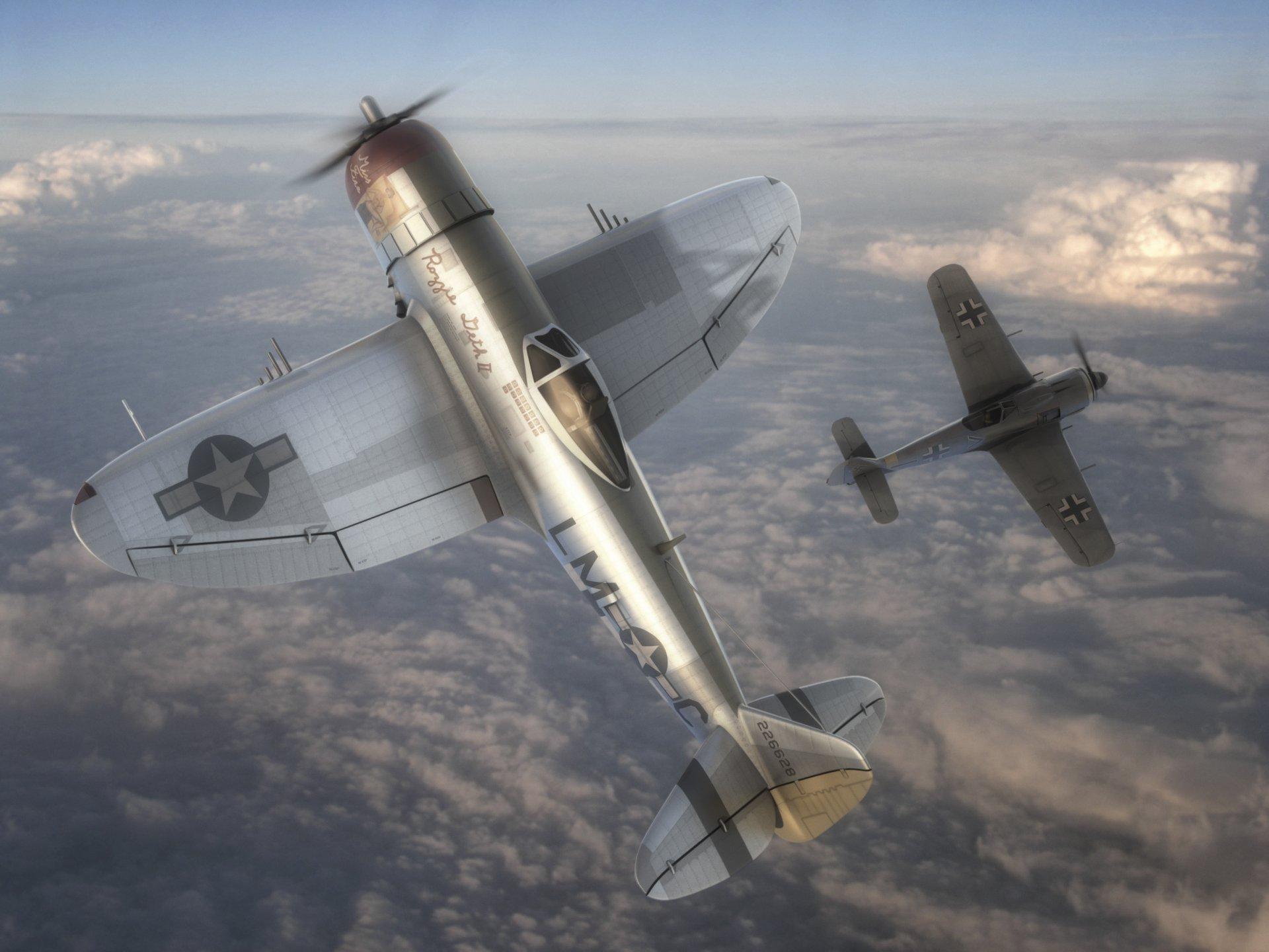 Обои войны, bf.109, мировой, Fw-190, истребители, второй. Авиация foto 11