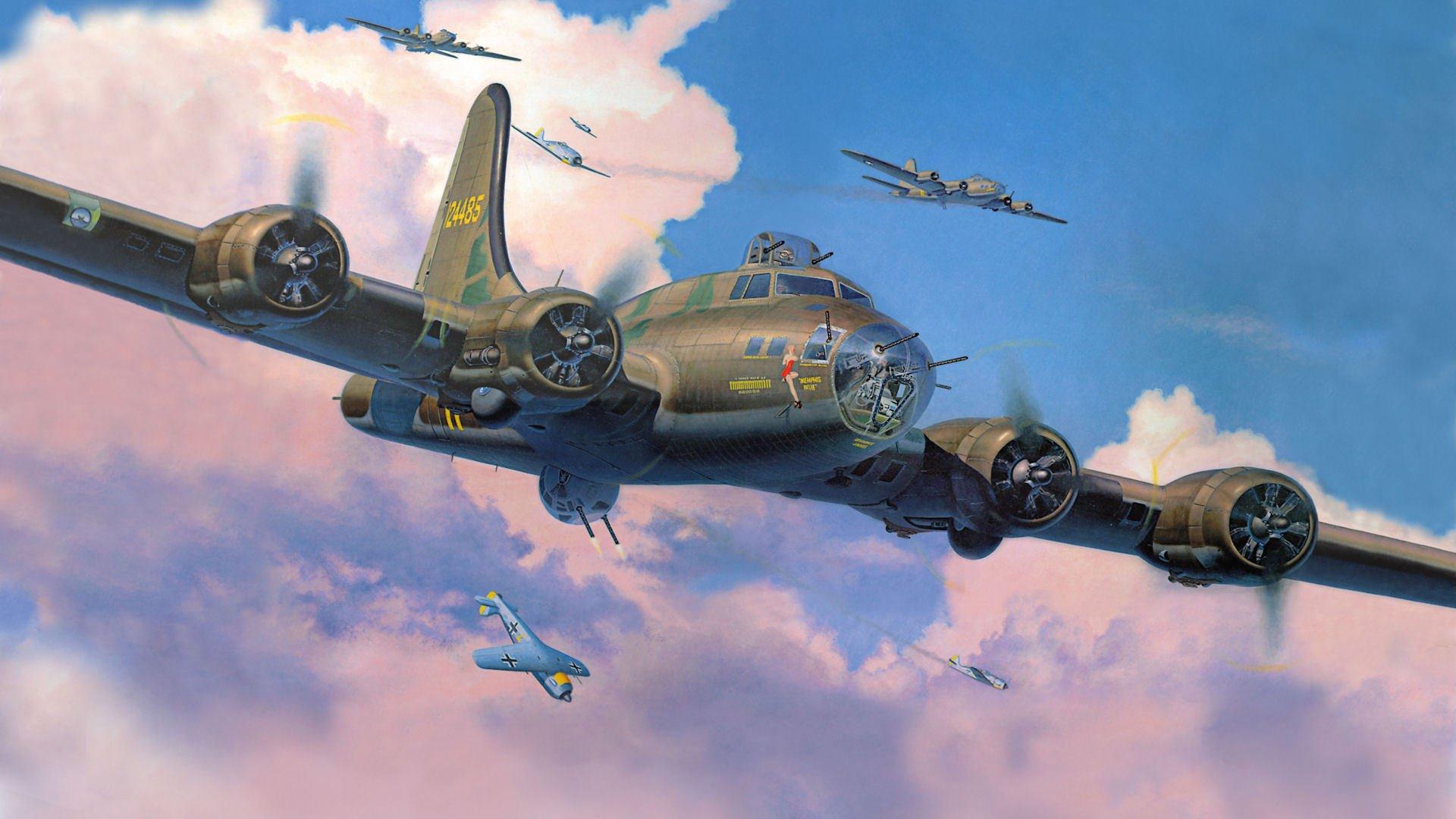 Обои Самолёт, B 17. Авиация foto 17