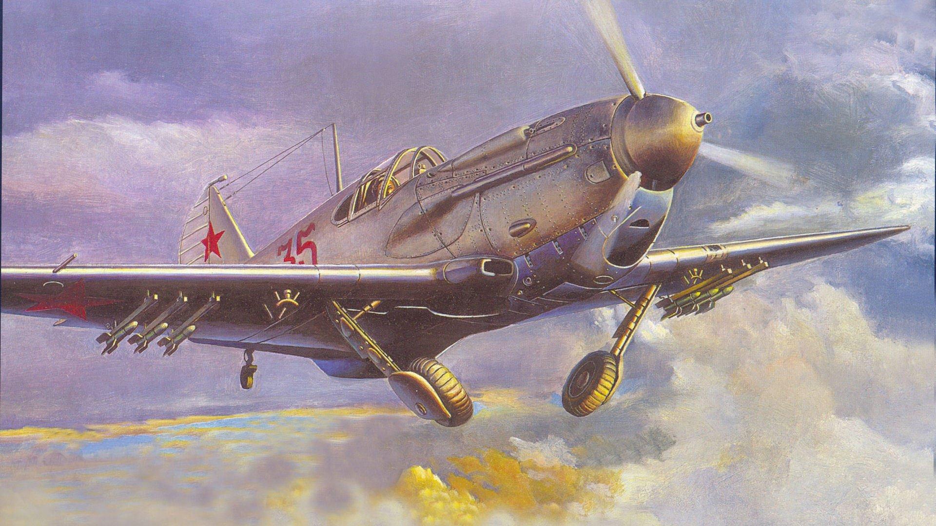 Обои ла-7, советский, одномоторный, одноместный, лавочкин. Авиация foto 8