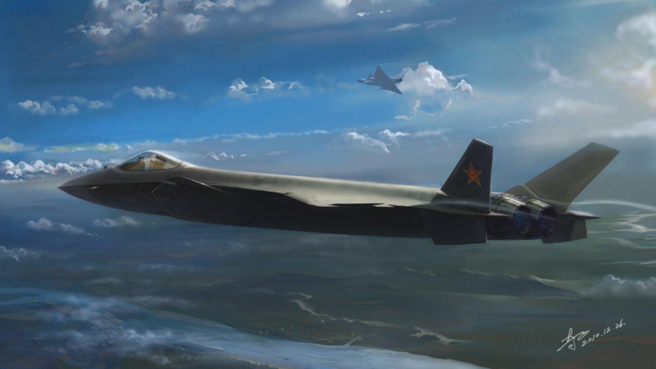 Обои j-20, Самолёт, ввс, истребитель, китайский. Авиация foto 8
