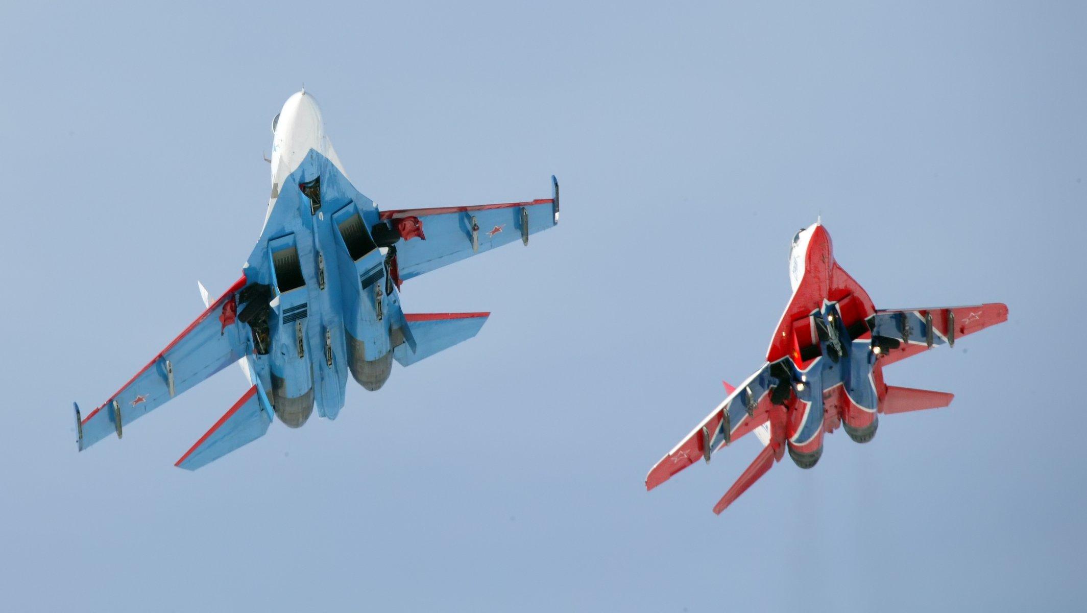 Обои стрижи, истребители, Русские витязи. Авиация foto 14