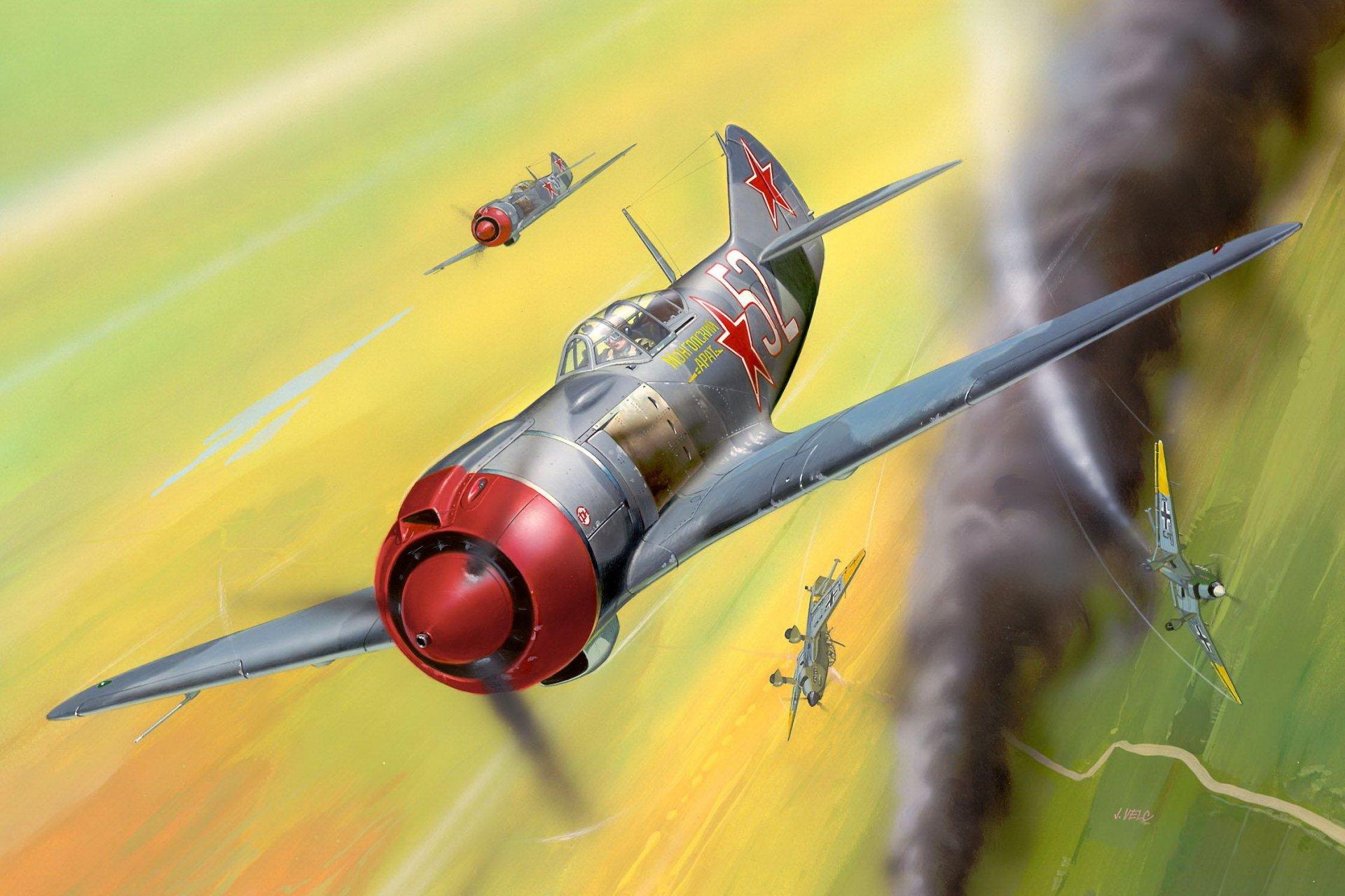 Обои ла-7, советский, одномоторный, одноместный, лавочкин. Авиация foto 9