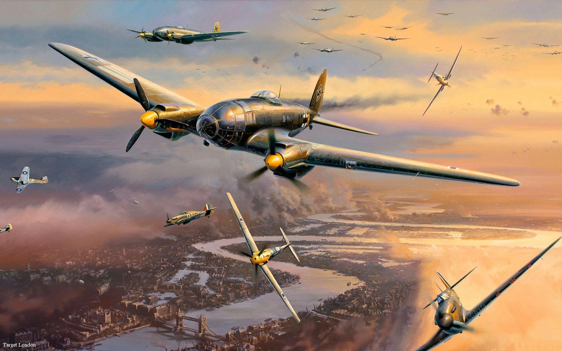 Обои Вторая мировая, истребитель, британский, spitfire, пилоты, рисунок. Авиация foto 17