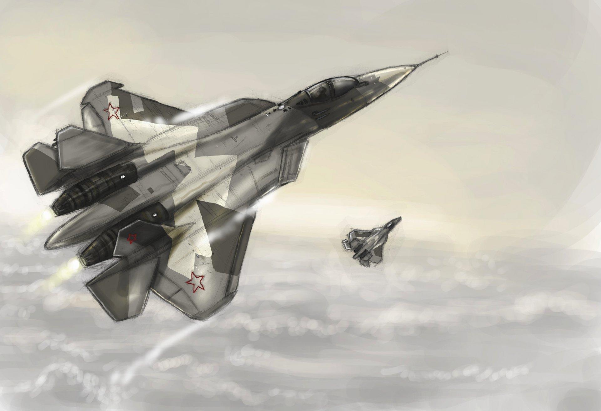 Обои т-50, Сухой, высота, вооружение. Авиация foto 8