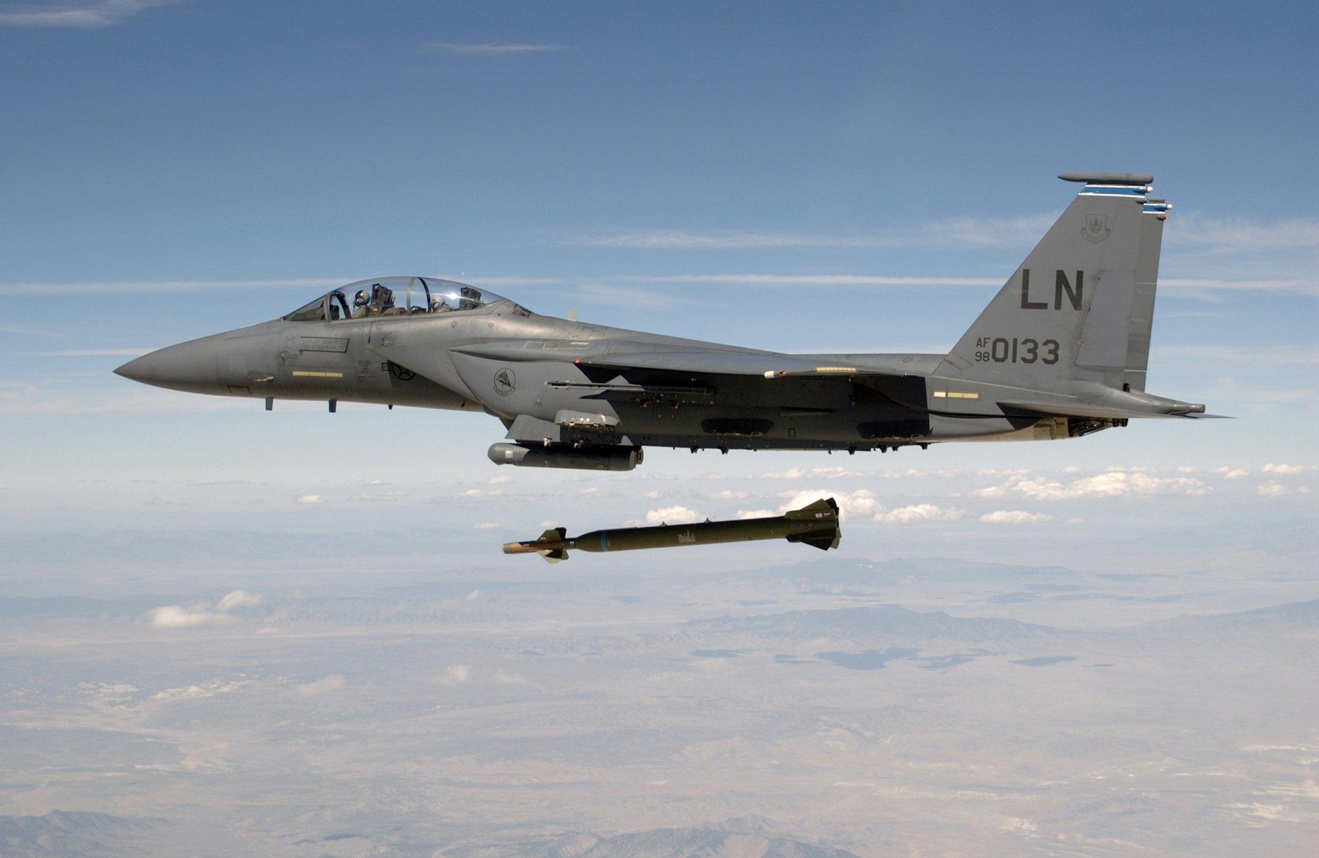 Обои земля, обои, сша, пилоты, Ракета, бомба, кабина, Самолёт, ввс. Авиация foto 6