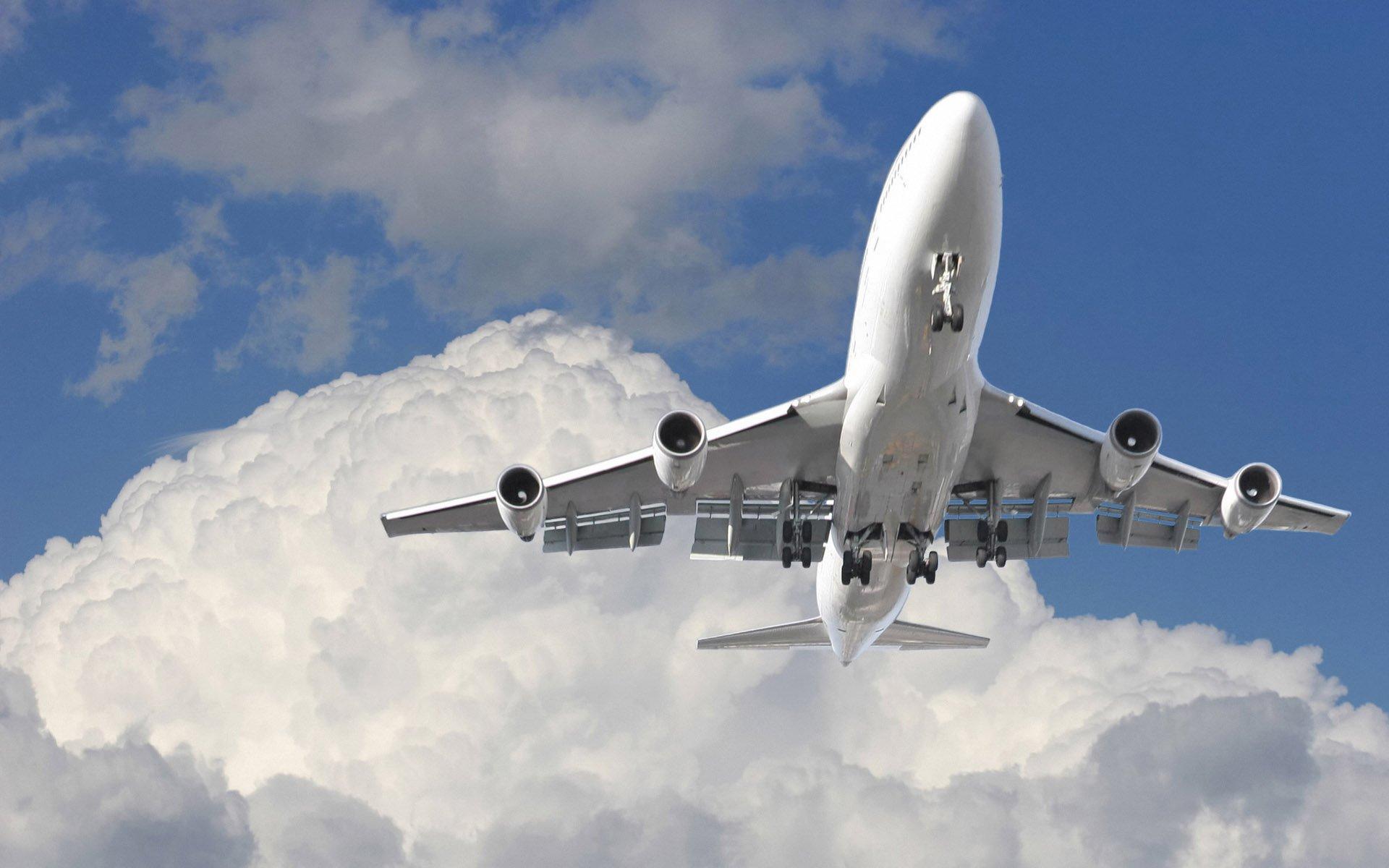 поделиться картинки авиалайнера в полете вафельки
