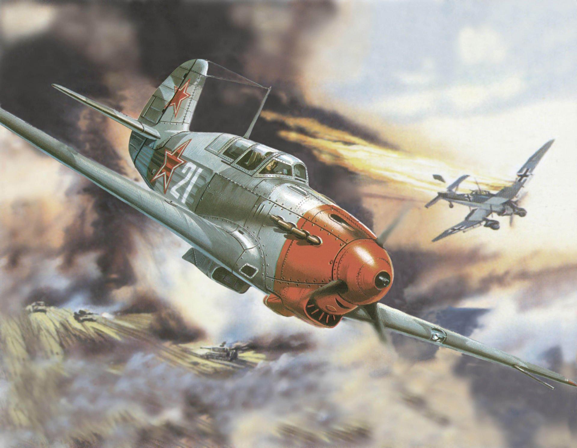 Обои война, сражение, сбитый юнкерс, рисунок. Авиация foto 6
