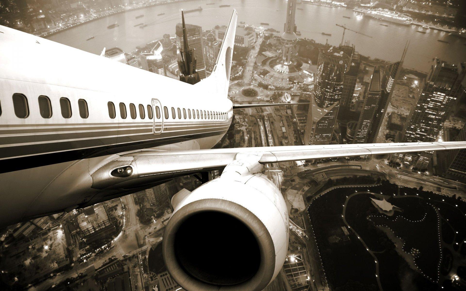 Обои Самолёт. Города foto 13