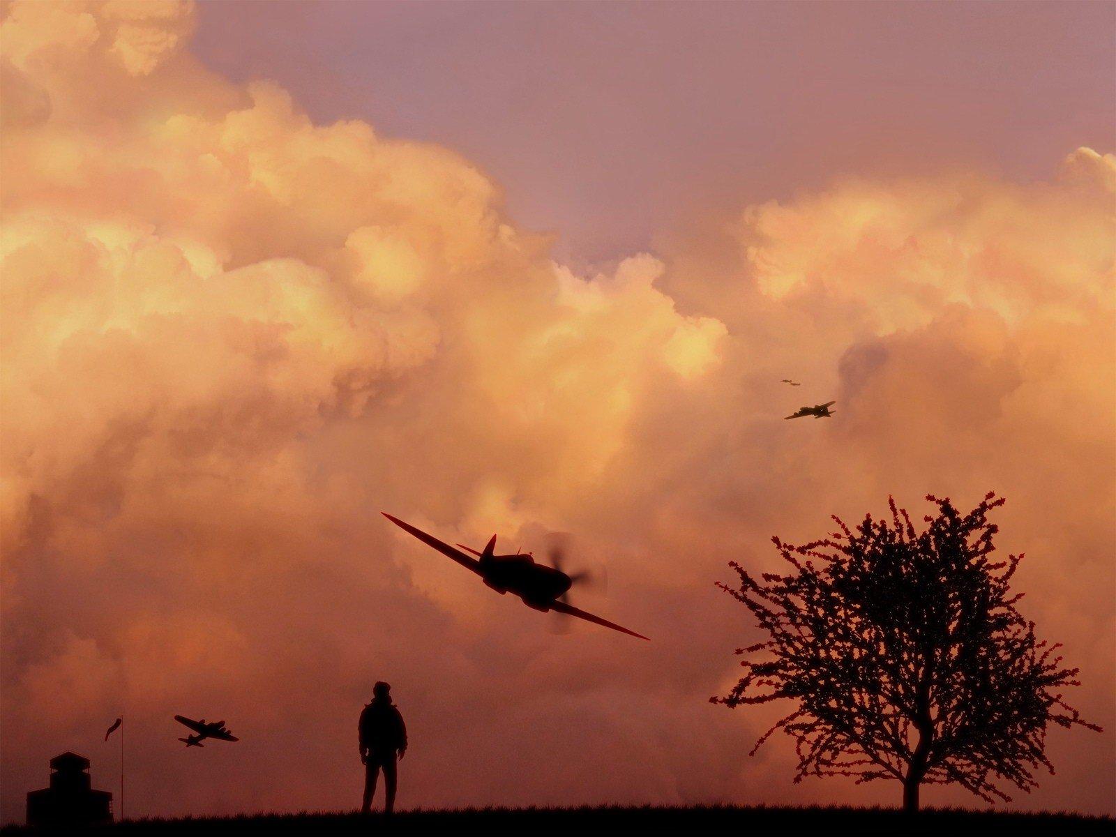 военное небо фото жители
