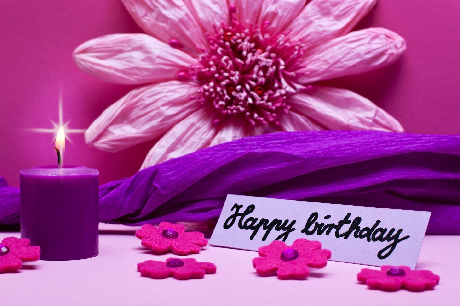 С днем рождения открытка лиловая, картинки поздравления слова