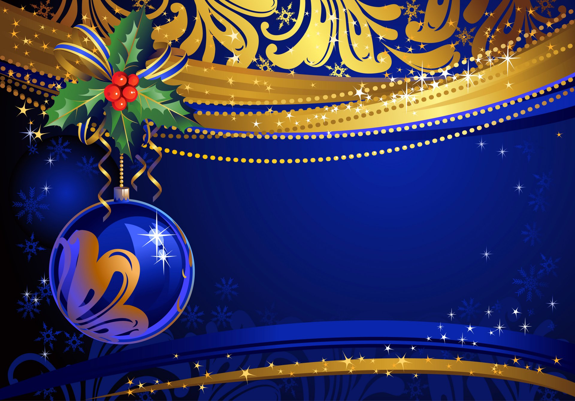 Новогодняя открытка для фона