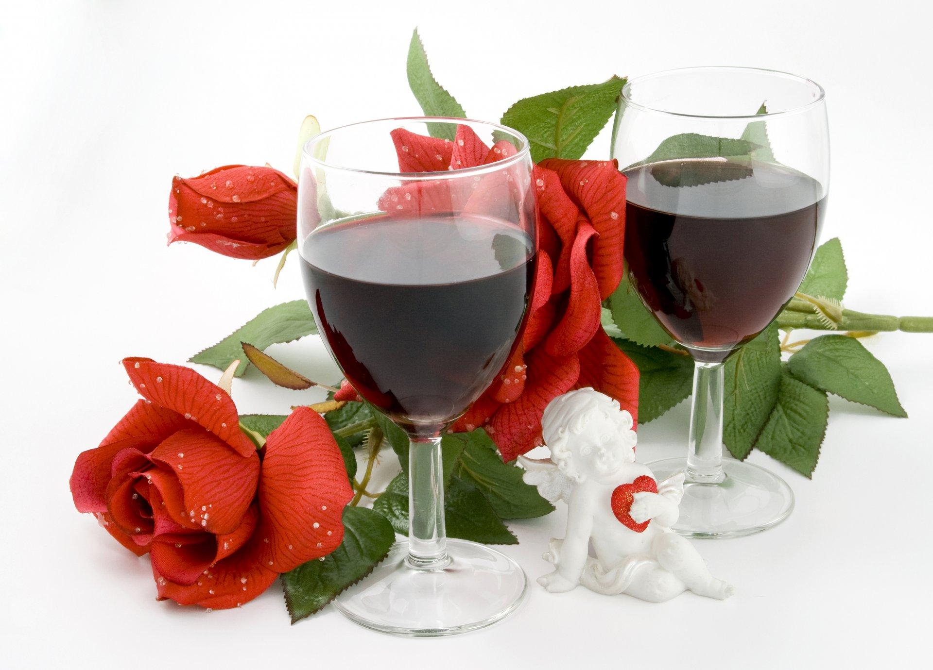 Открытки с цветами и вино, символом