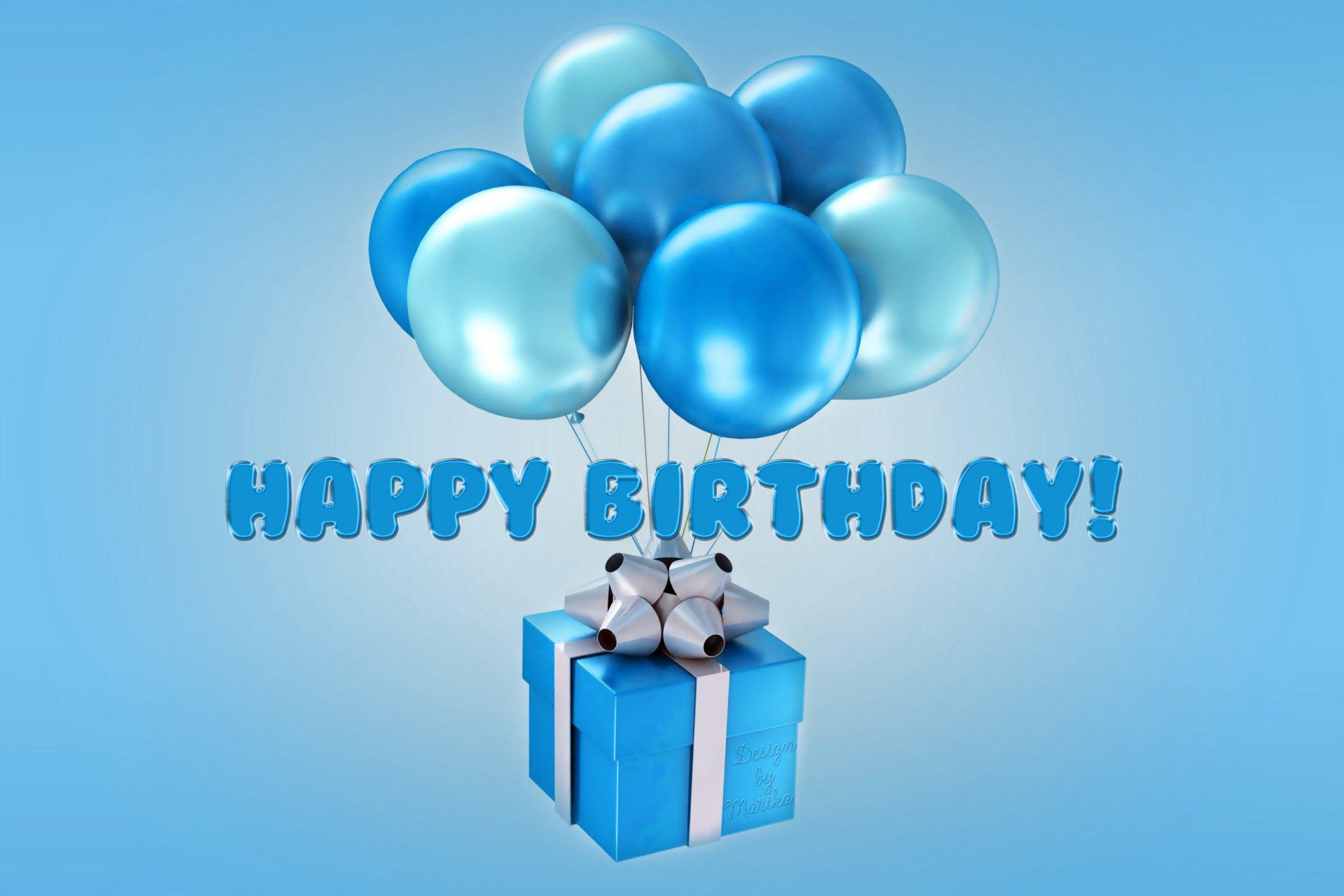 всех, синие шары с днем рождения картинки эта война